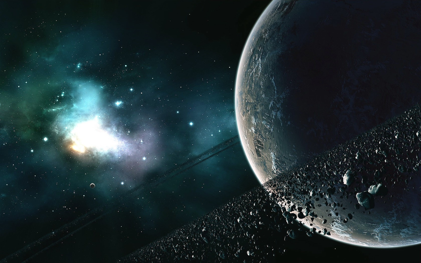 Real Asteroid Belt HD Wallpaper, Backgrounds Image