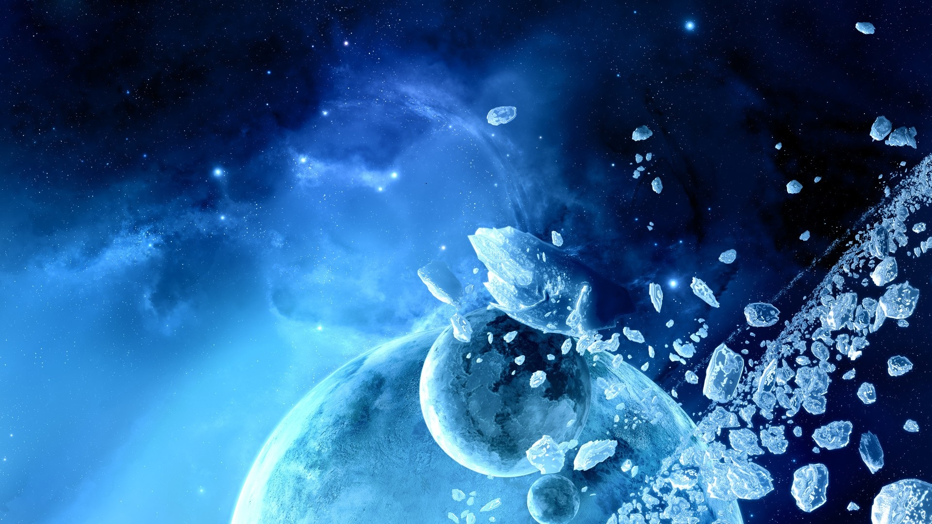 Ice Asteroid Belt HD Wallpapers