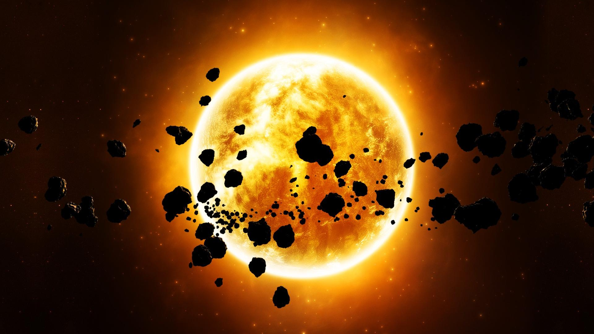 Sun and asteroid belt wallpapers