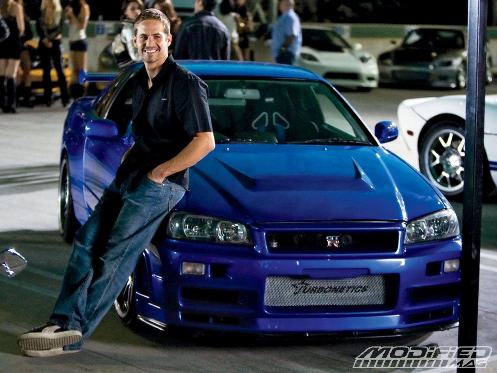 Actor Paul Walker and his awesome car wallpapers and image