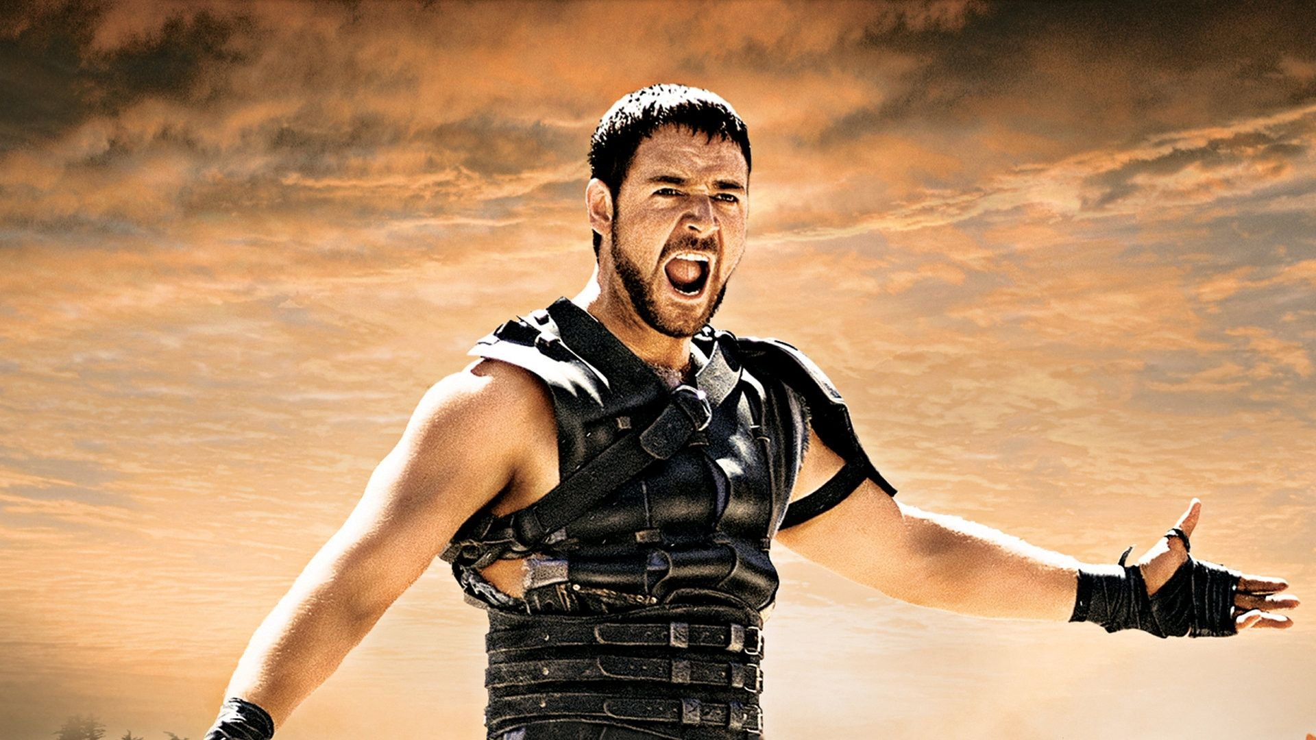 Download Wallpapers 1920x1080 Gladiator, Russell crowe, Maximus