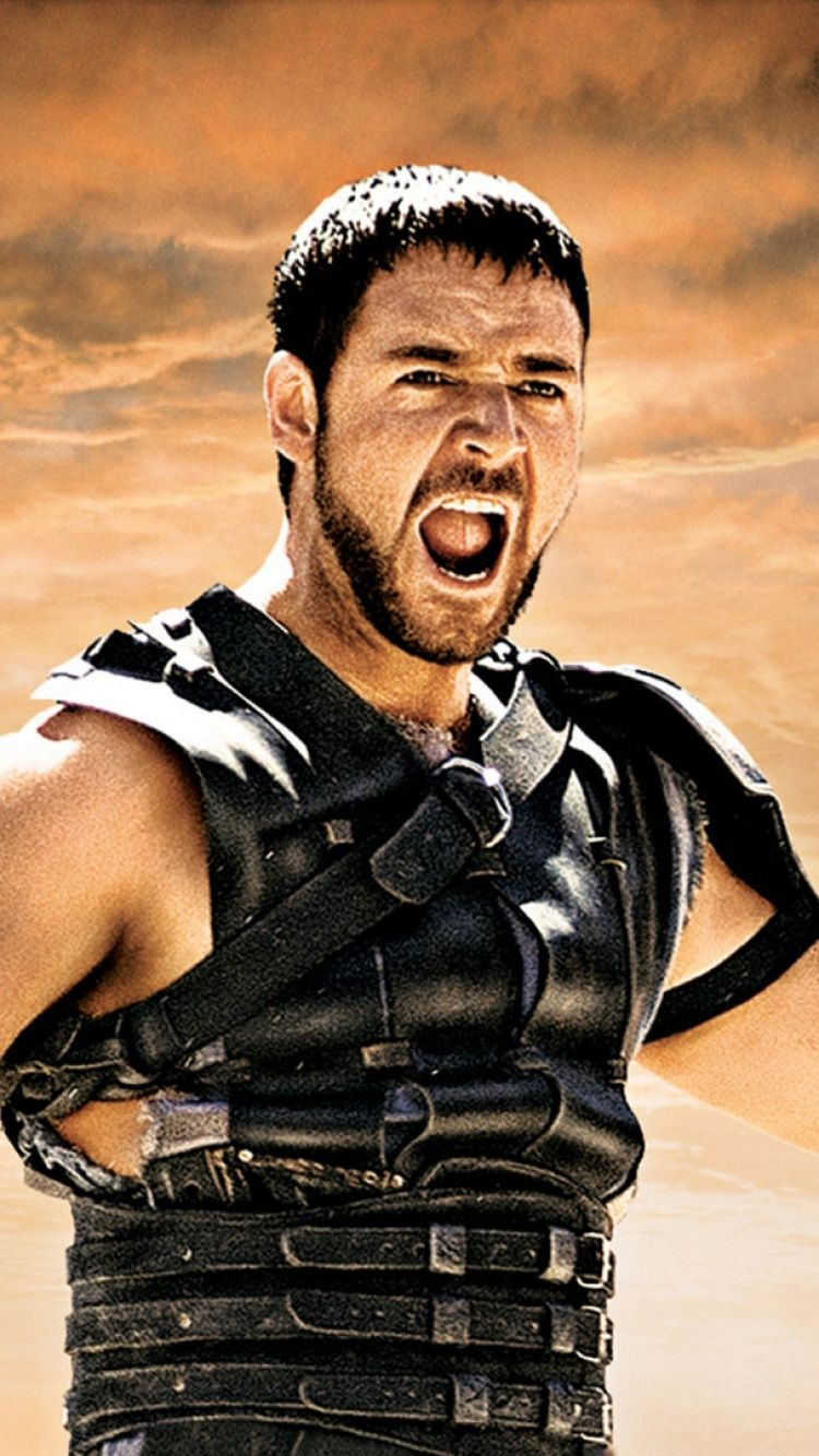 Download Wallpapers 750x1334 Gladiator, Russell crowe, Maximus
