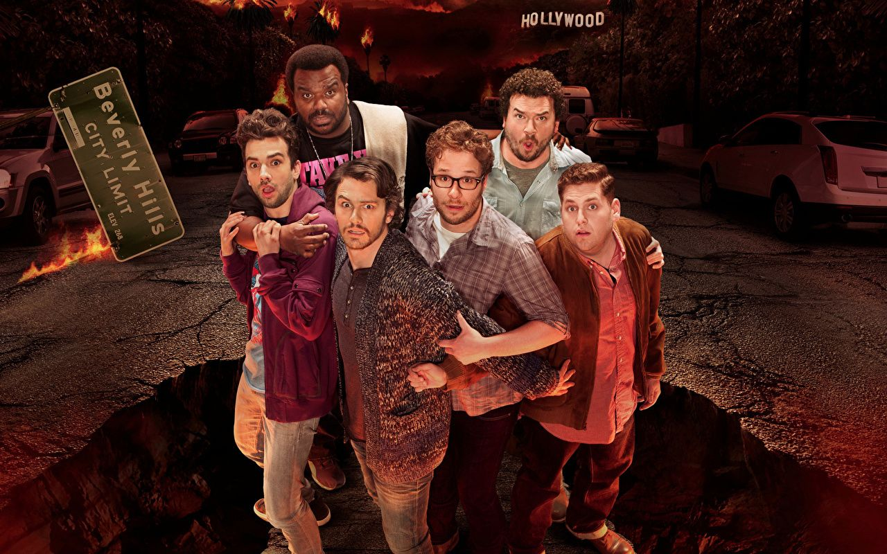 Photos James Franco Men This is The end Jonah Hill Seth Rogen Jay