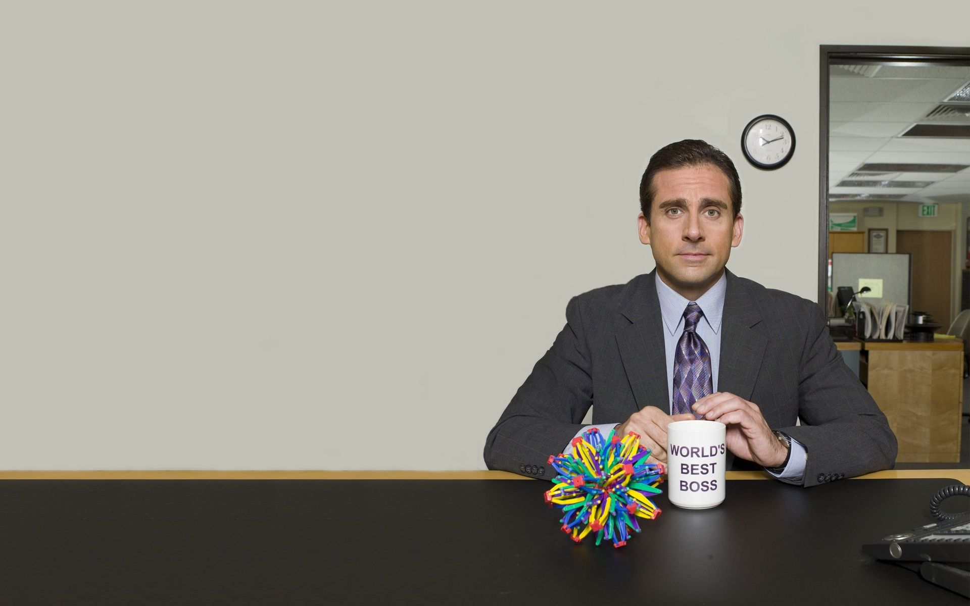 Download wallpapers 1920x1200 the office, tv series, steve carell