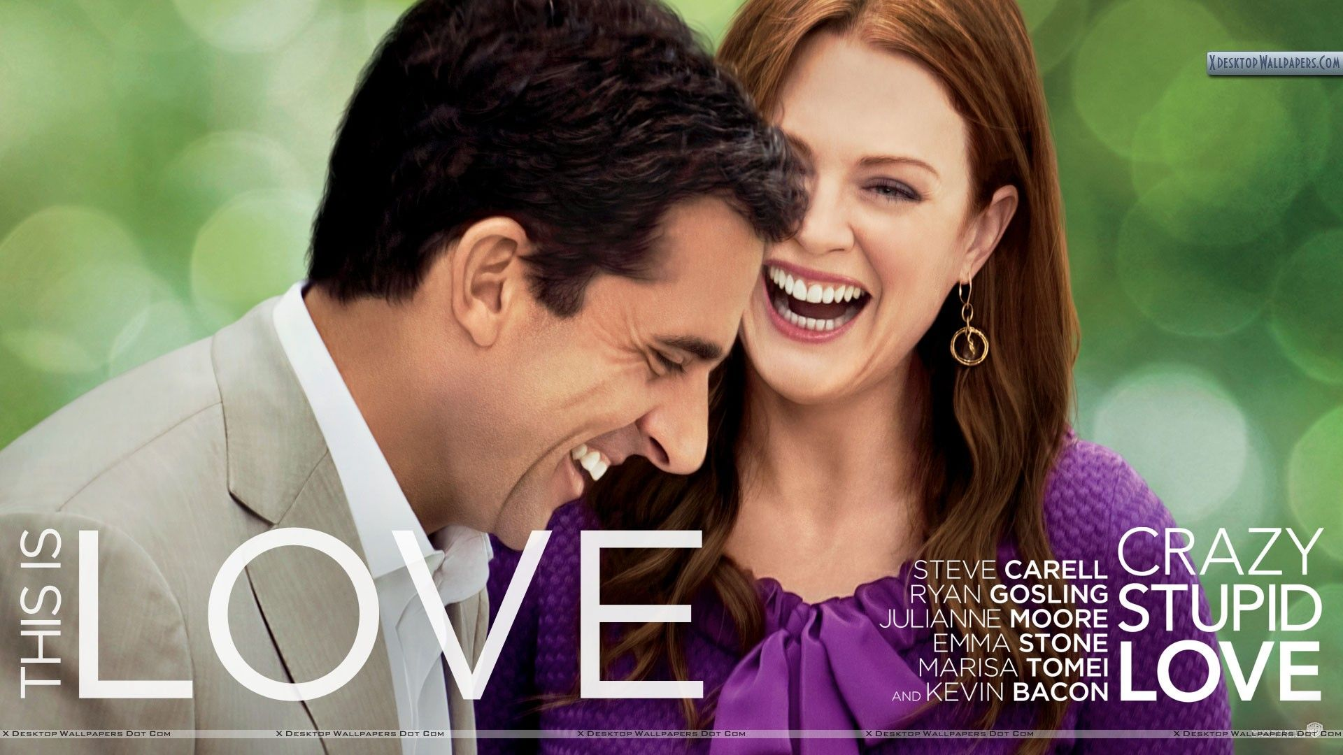 Julianne Moore and Steve Carell in Crazy, Stupid, Love Wallpapers