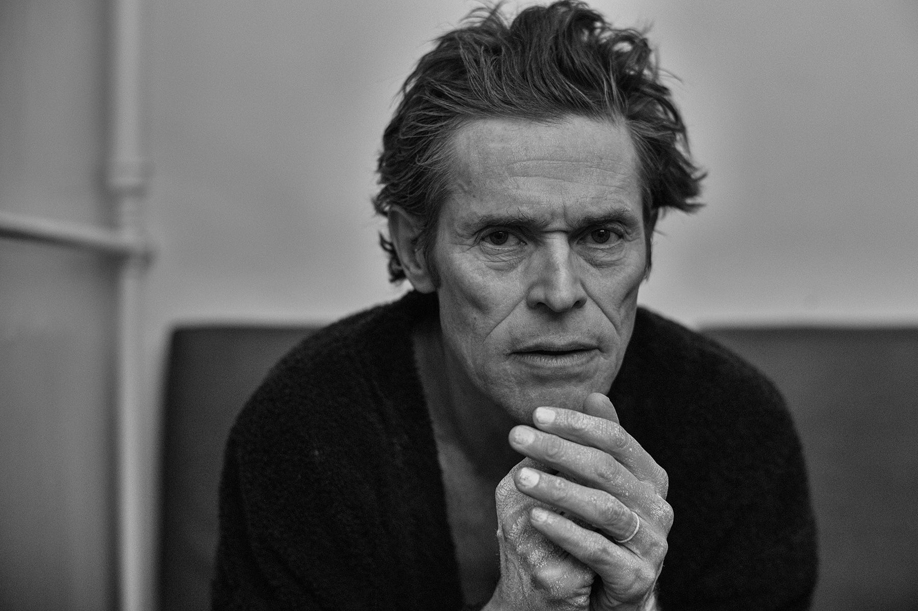 Download 1800x1198 Willem Dafoe, Actor, Black And White, Face