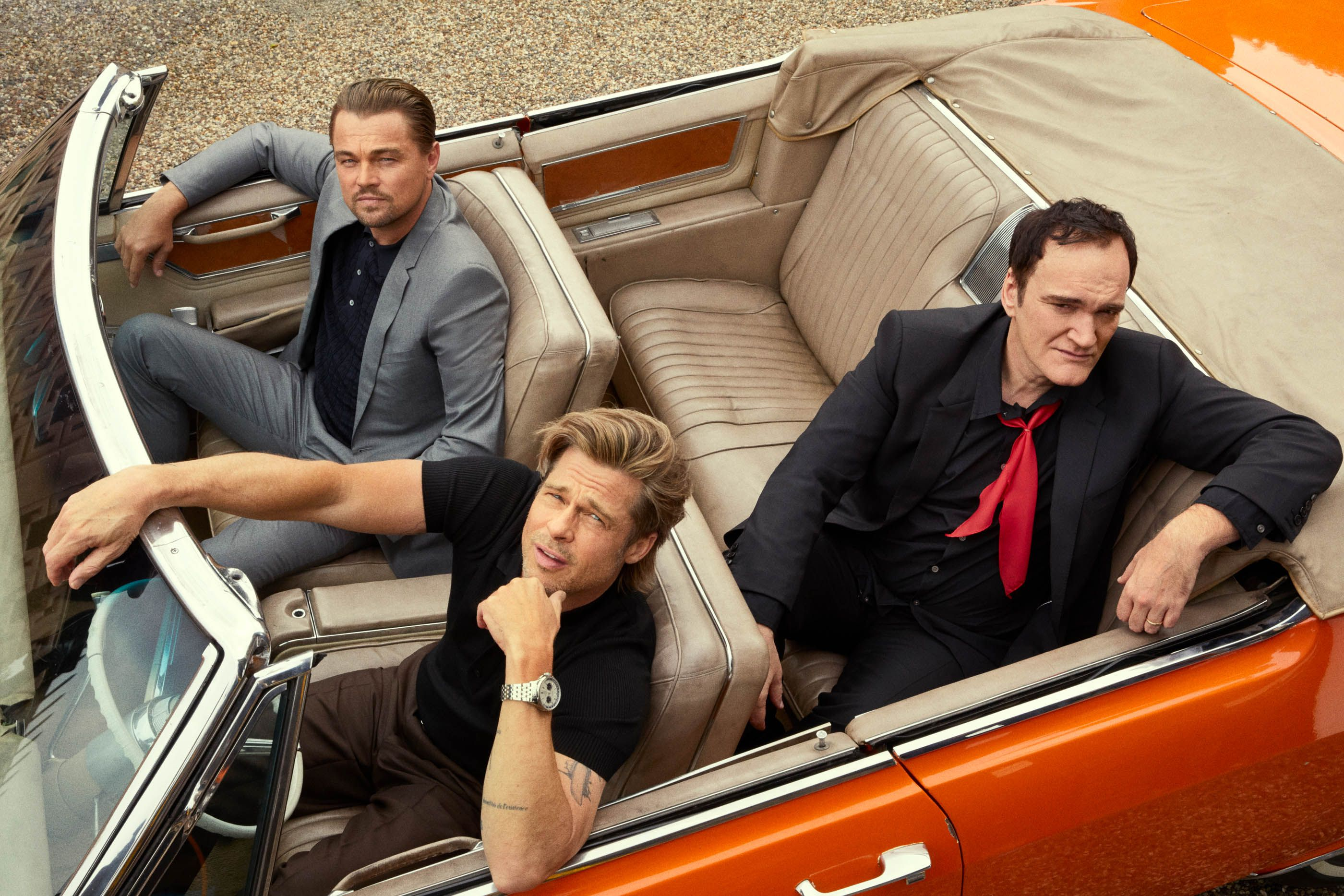 Quentin Tarantino, Brad Pitt, and Leonardo DiCaprio Take You Inside