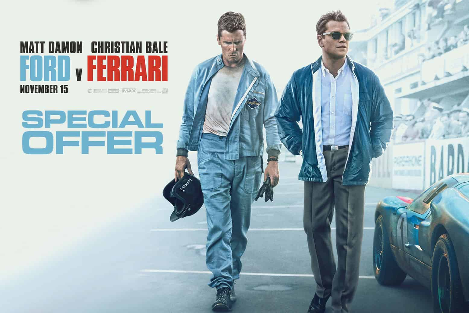 Show Your Ford v Ferrari Ticket for a Race Discount!