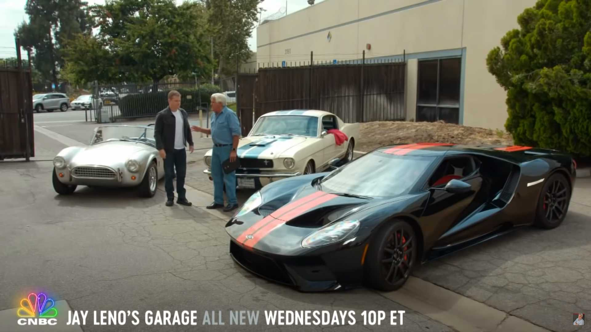 Matt Damon Visits Jay Leno's Garage To Talk Ford V Ferrari