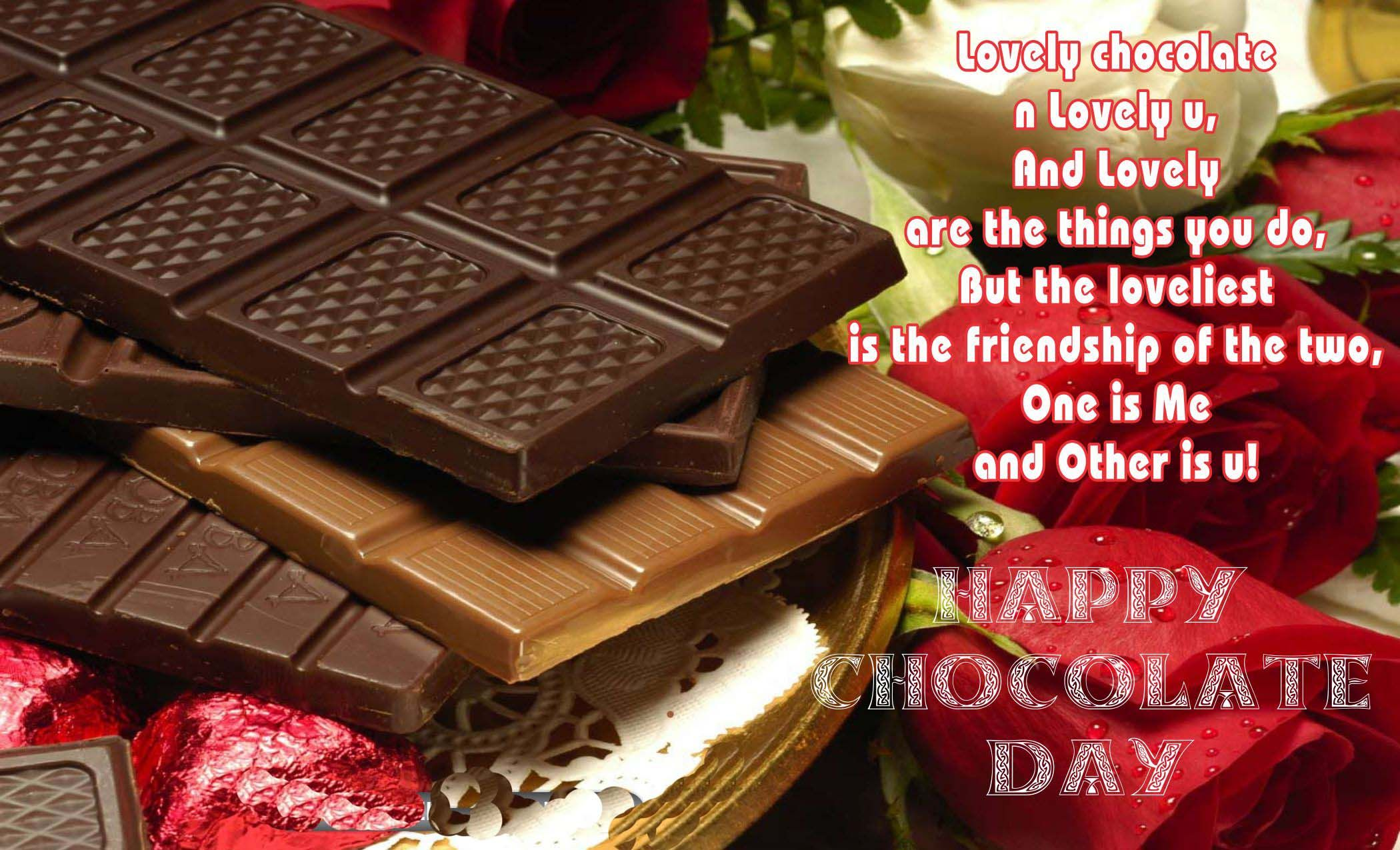 Animated chocolate day image,Wallpapers