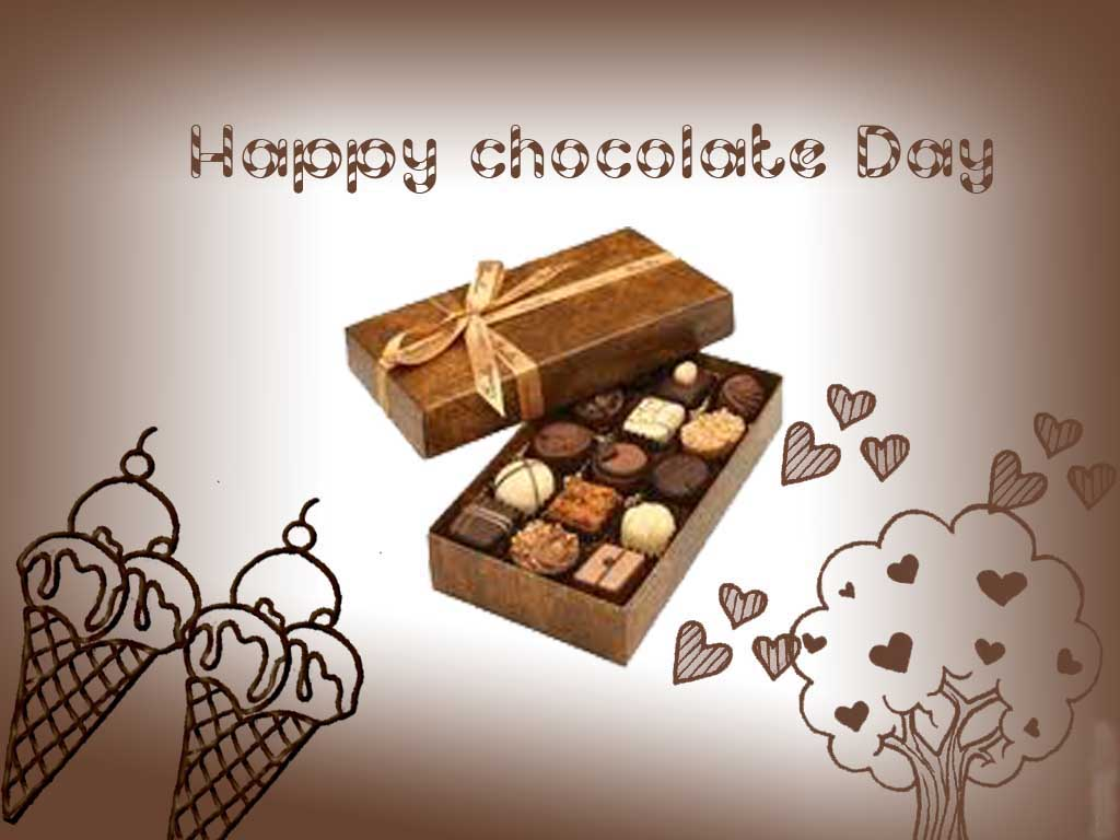 Happy Chocolate Day Wishes Graphic Picture