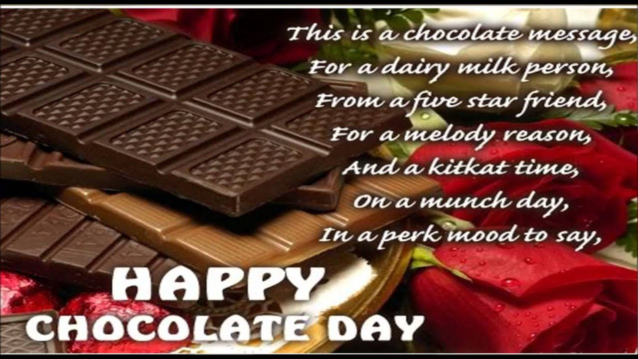 Happy Chocolate Day Wallpapers With Quotes Yokwallpapers