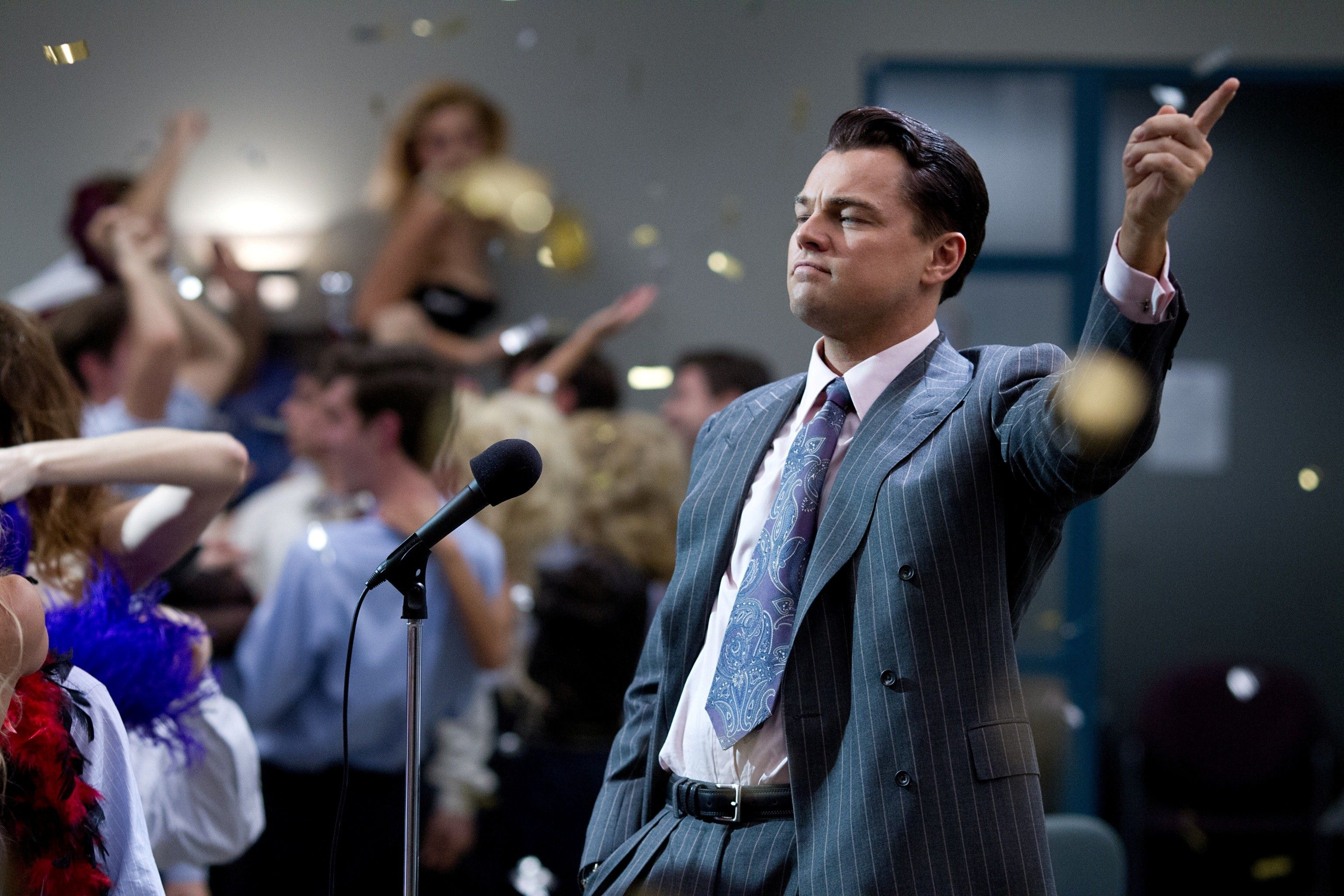 Leonardo DiCaprio in The Wolf Of Wall Street Movie HD Image