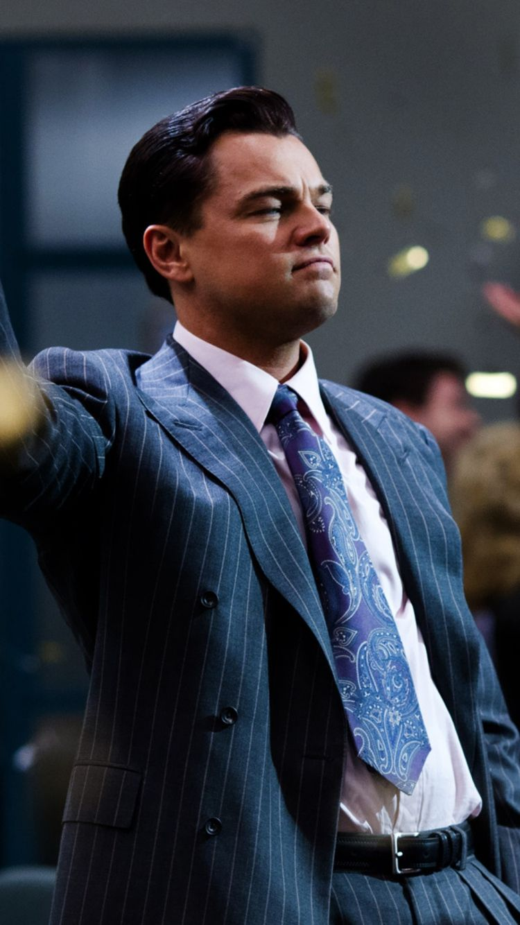 Download Wallpapers 750x1334 The wolf of wall street, Leonardo