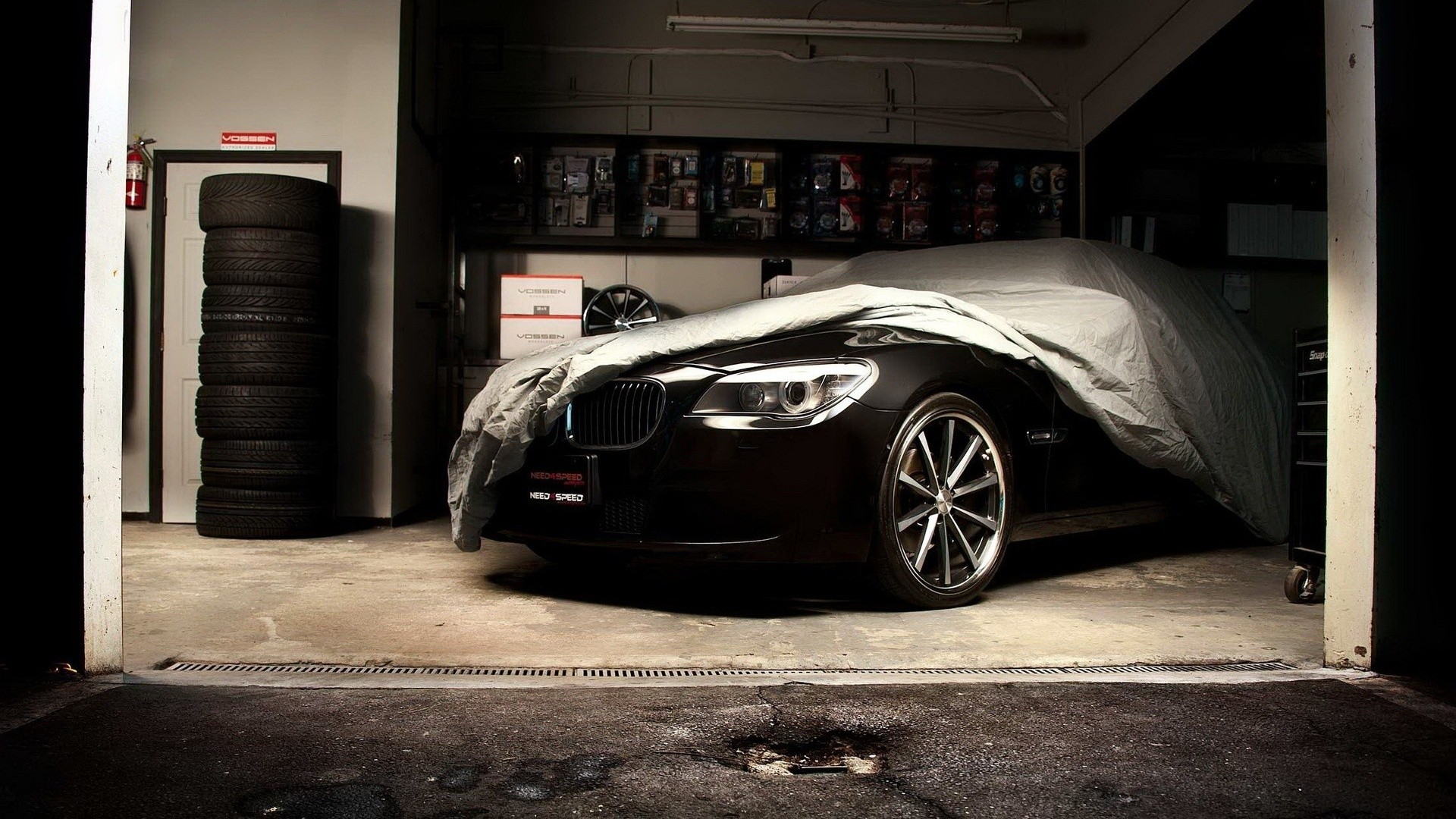 BMW, cars, garage :: Wallpapers