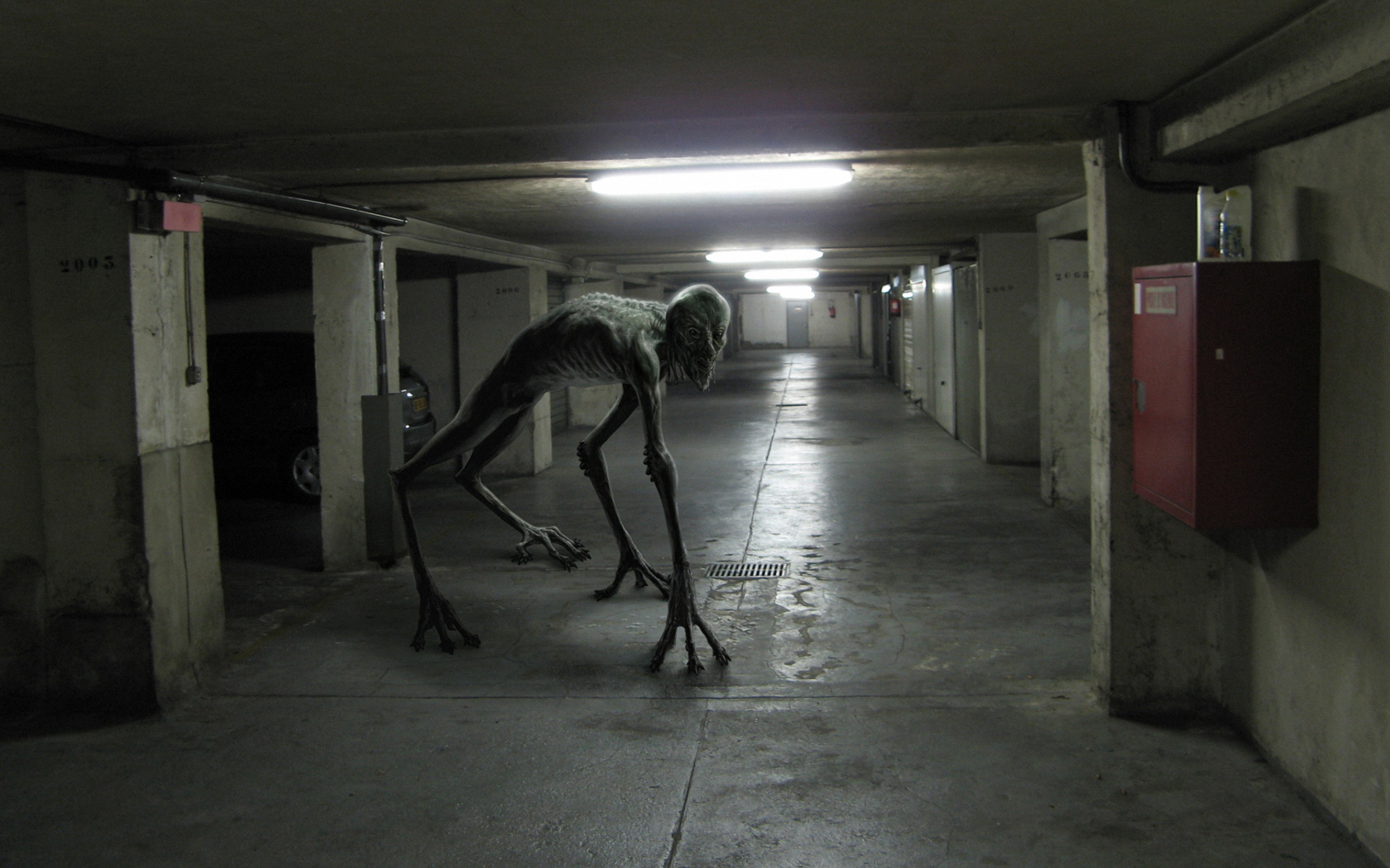 monsters, hallway, creep, spooky, creatures, alien life forms, Alien