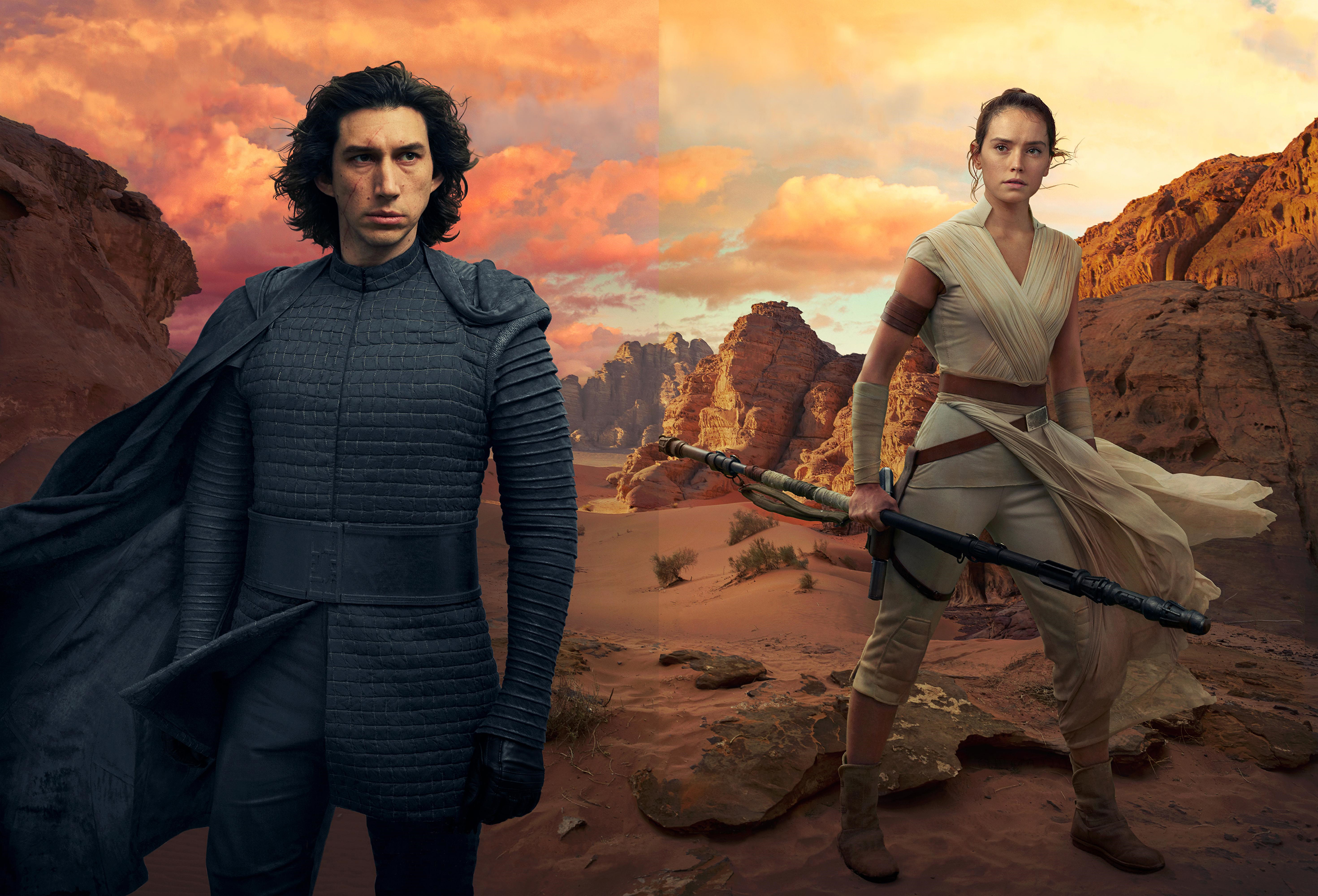 Kylo Ren and Rey In Star Wars The Rise of Skywalker