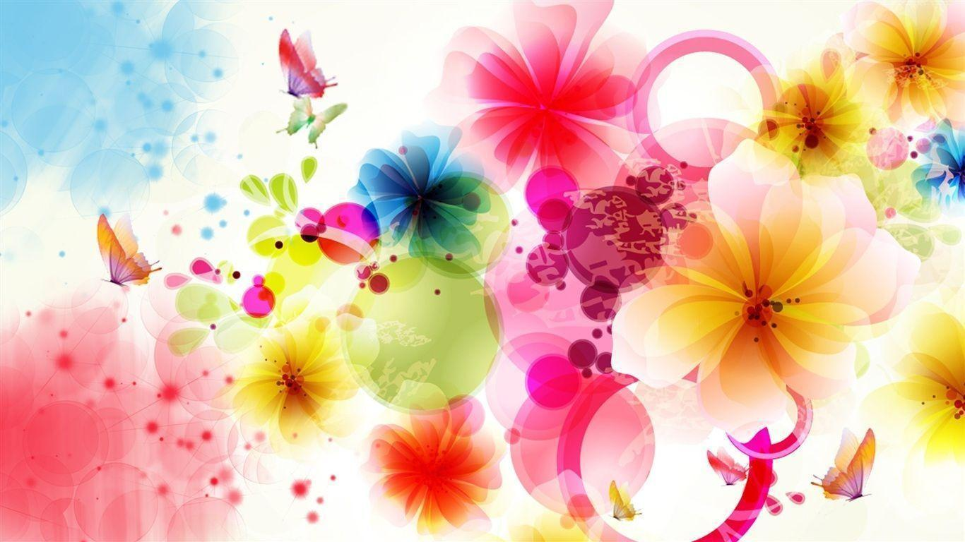 Download Design Flowers And Butterflies Wallpapers