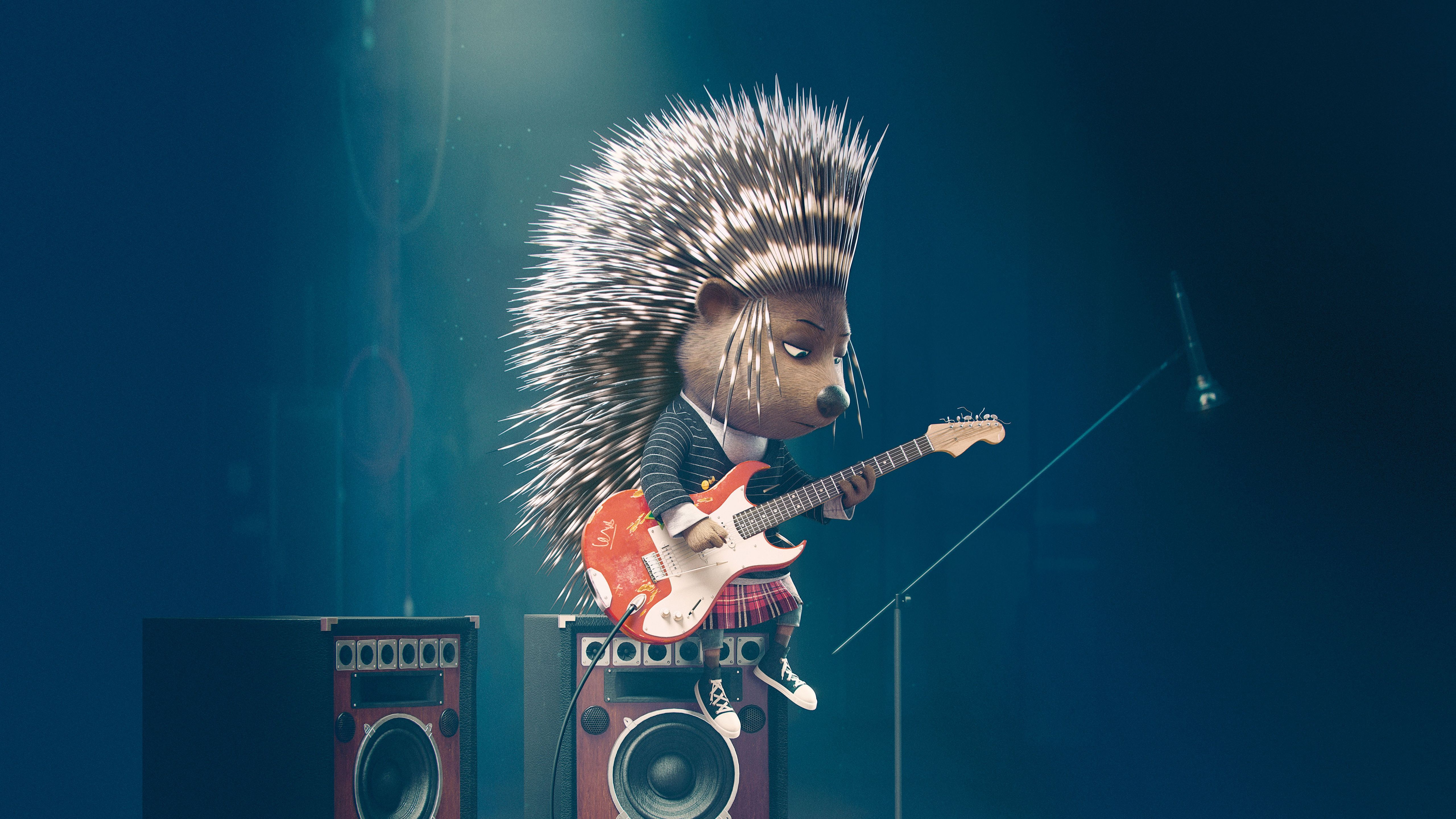 Download wallpapers 5120x2880 sing, ash, porcupine hd backgrounds