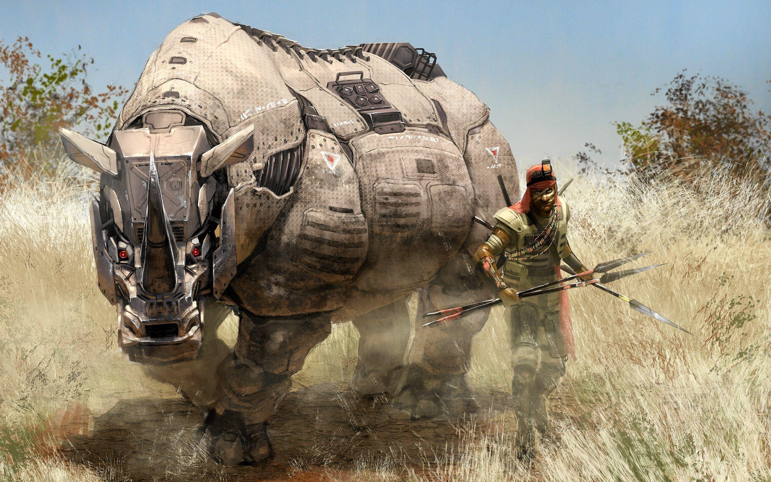 fantasy Art, Rhino Wallpapers HD / Desktop and Mobile Backgrounds
