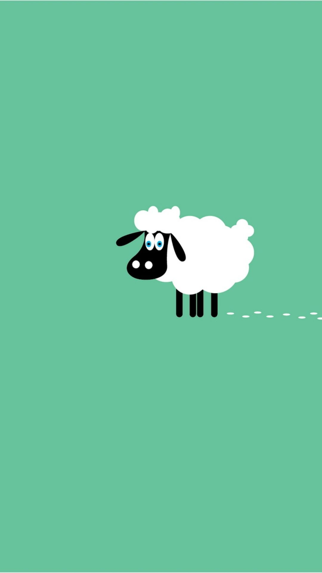 Sheep. 9 Animals Minimalistic Wallpapers for iPhone
