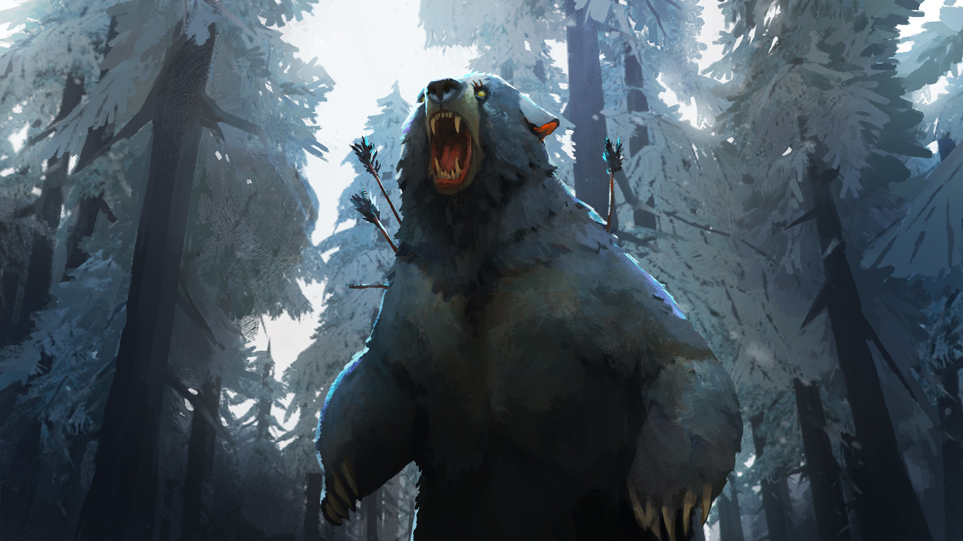 Wounded bear. Wallpapers from The Long Dark