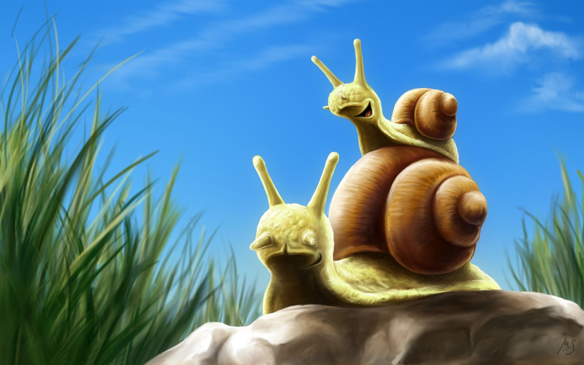 snails artwork 1920x1200 wallpapers High Quality Wallpapers,High