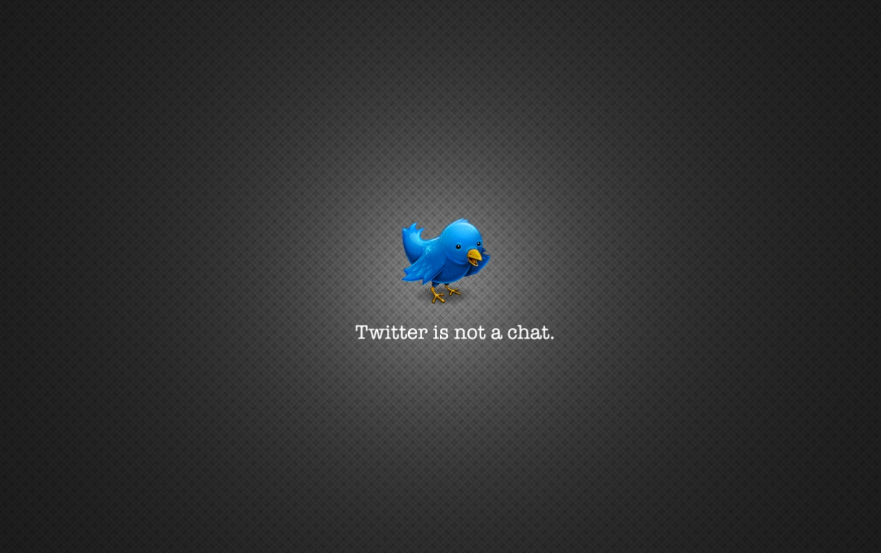 Twitter is not a chat wallpapers