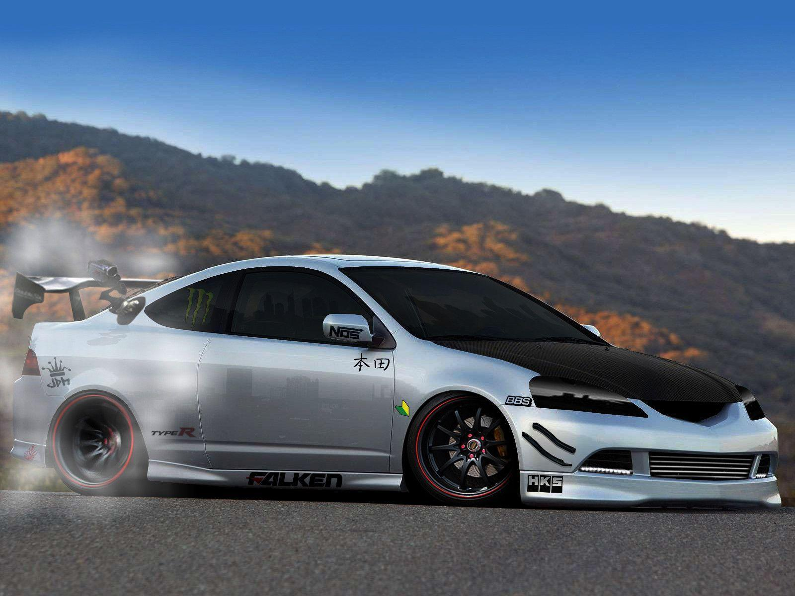 Drifting Acura RSX HD Wallpapers