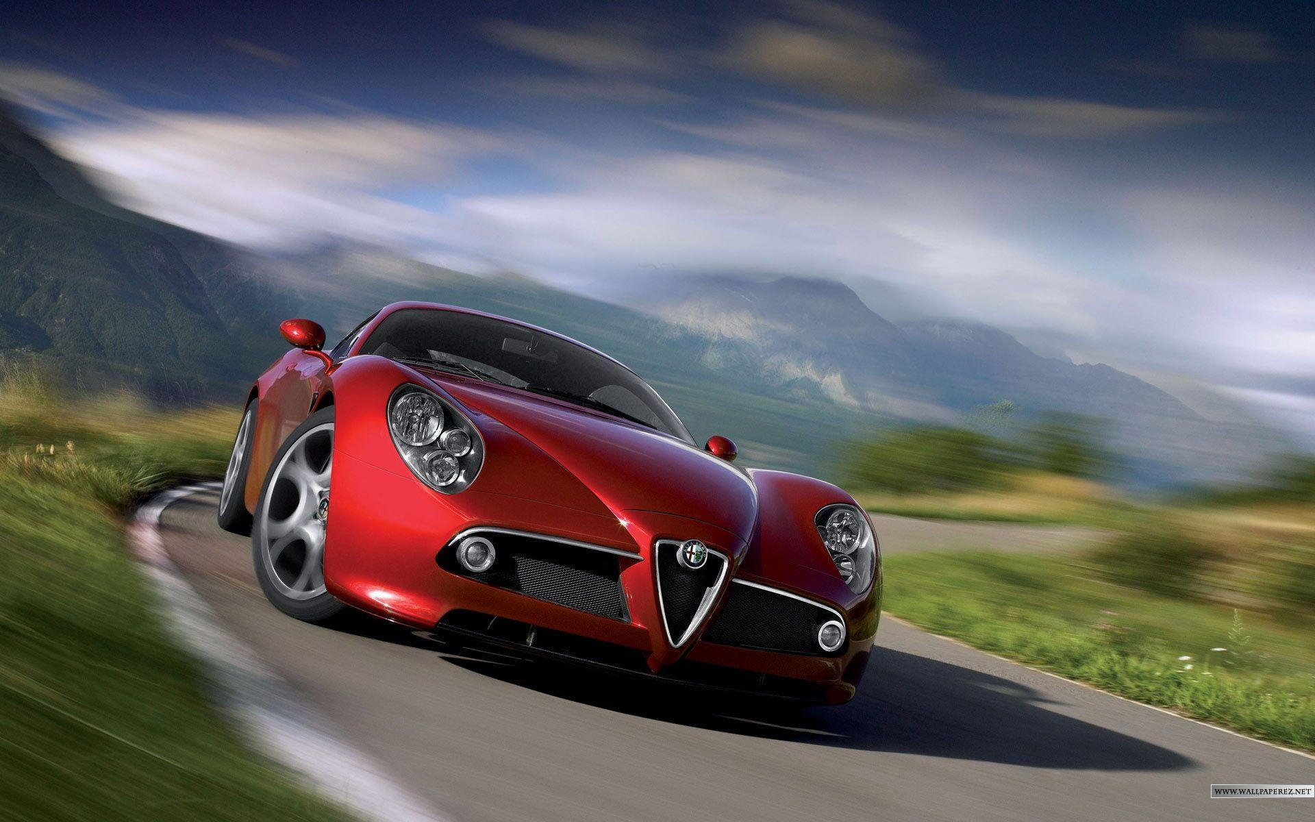Alfa Romeo Red 10208 HD Wallpapers Pictures