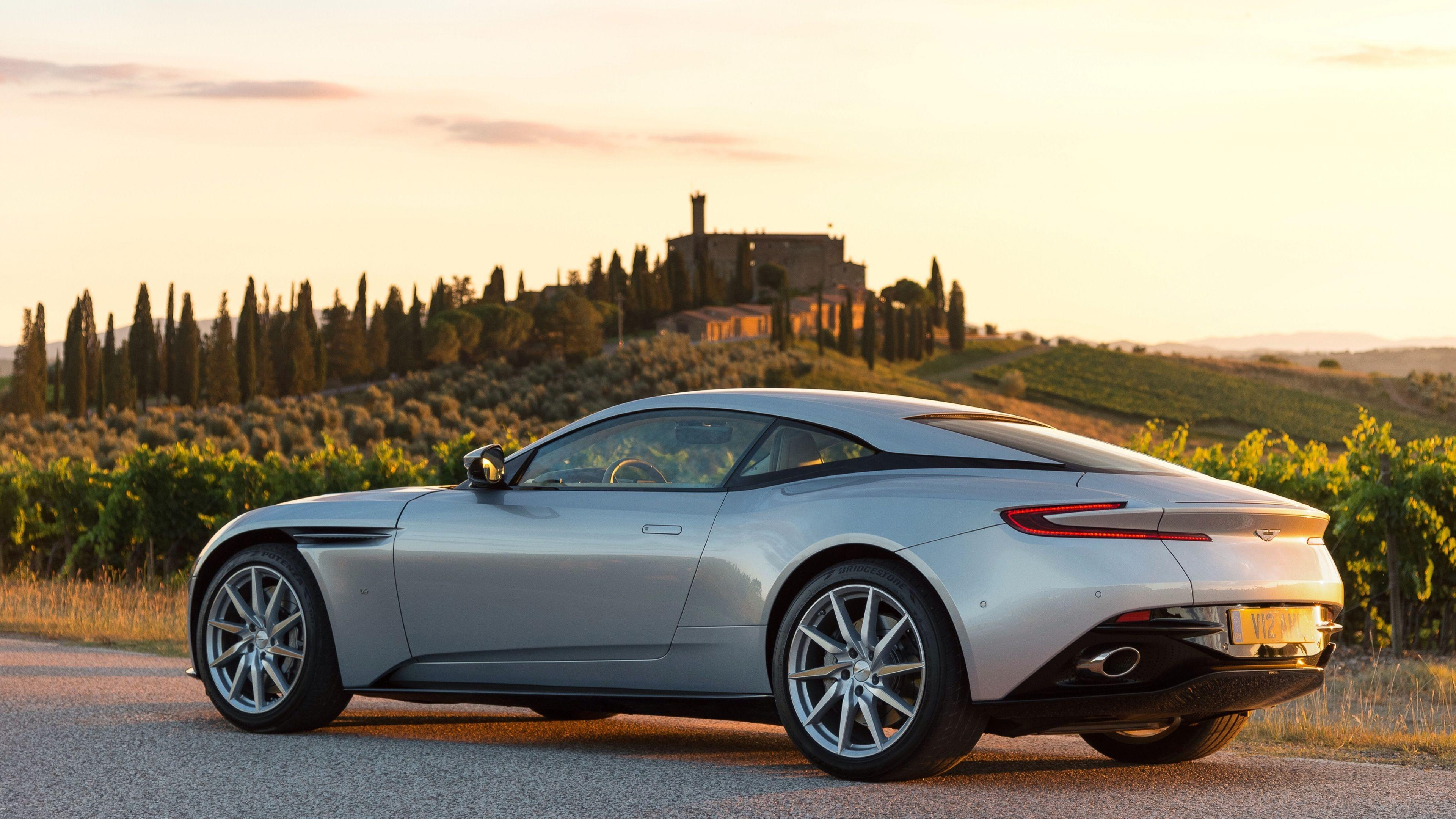 Download Wallpapers 3840x2160 Aston martin, Db11, Side view 4K