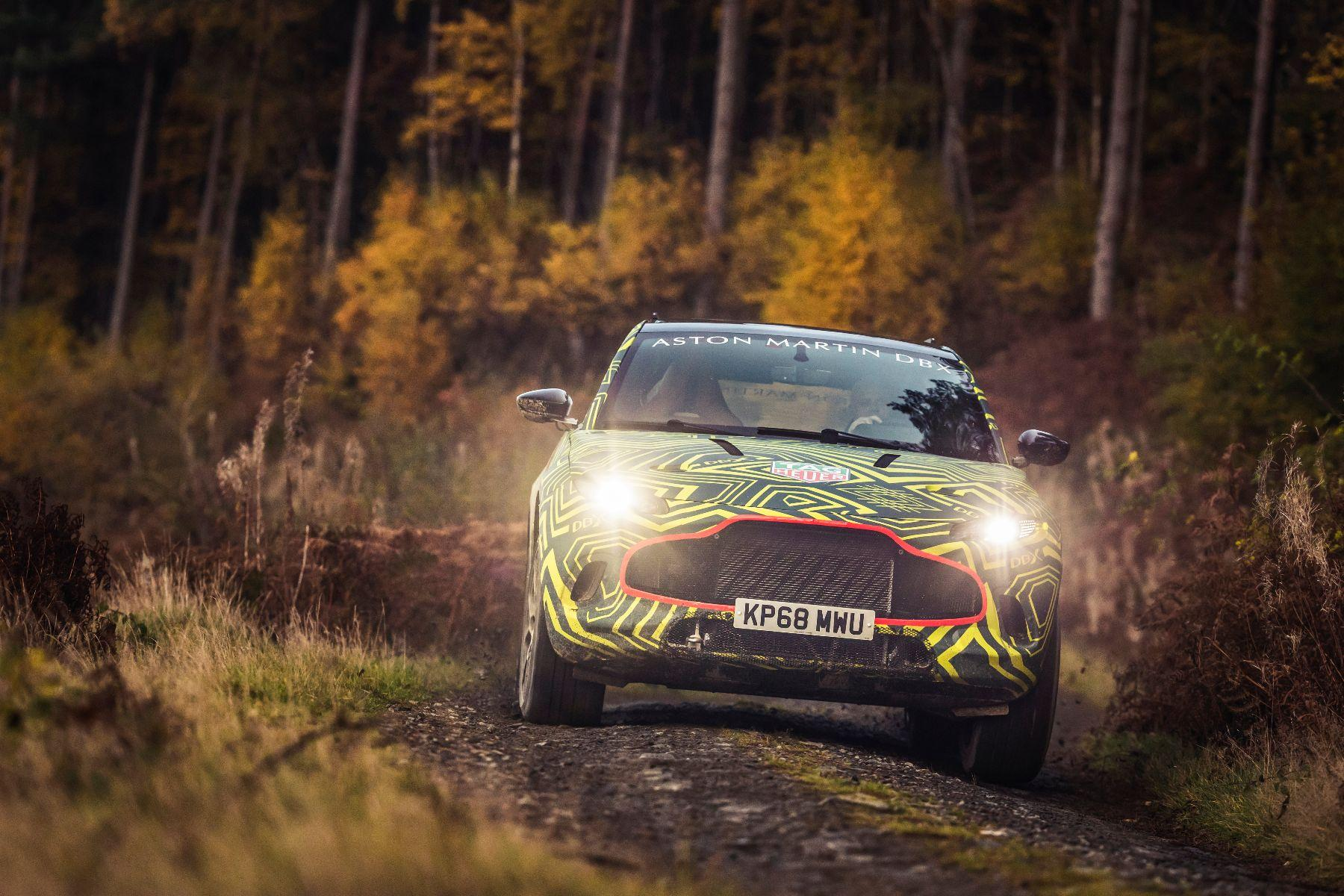 Super SUV revealed: first photos of 2019 Aston Martin DBX