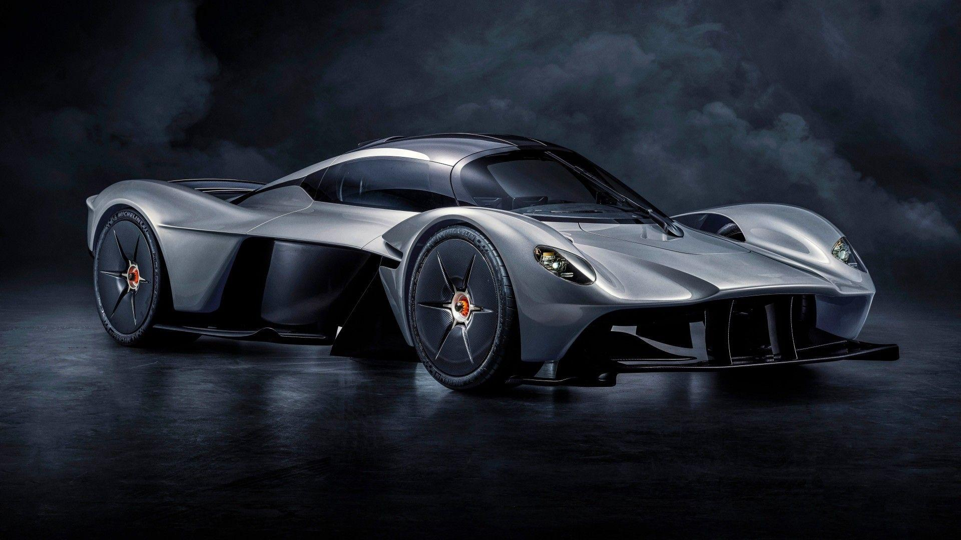 Download 1920x1080 Aston Martin Valkyrie, Supercars, Silver, Side