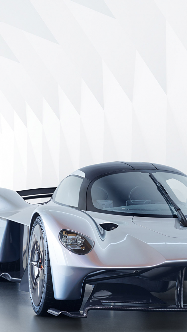 Download 750x1334 Aston Martin Valkyrie, Cars, Front View, Supercar