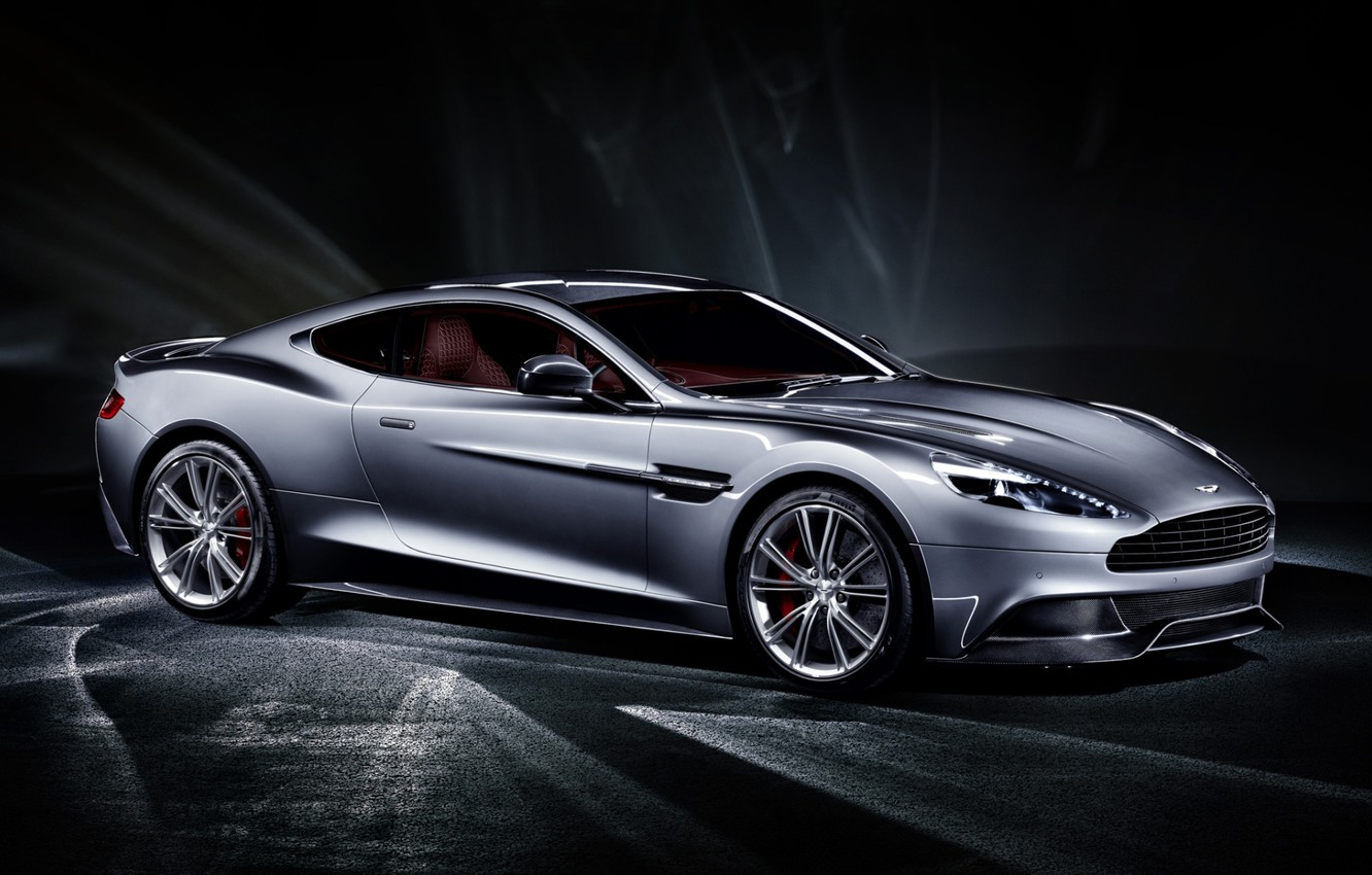 Wallpapers grey, background, Aston Martin, supercar, twilight, the