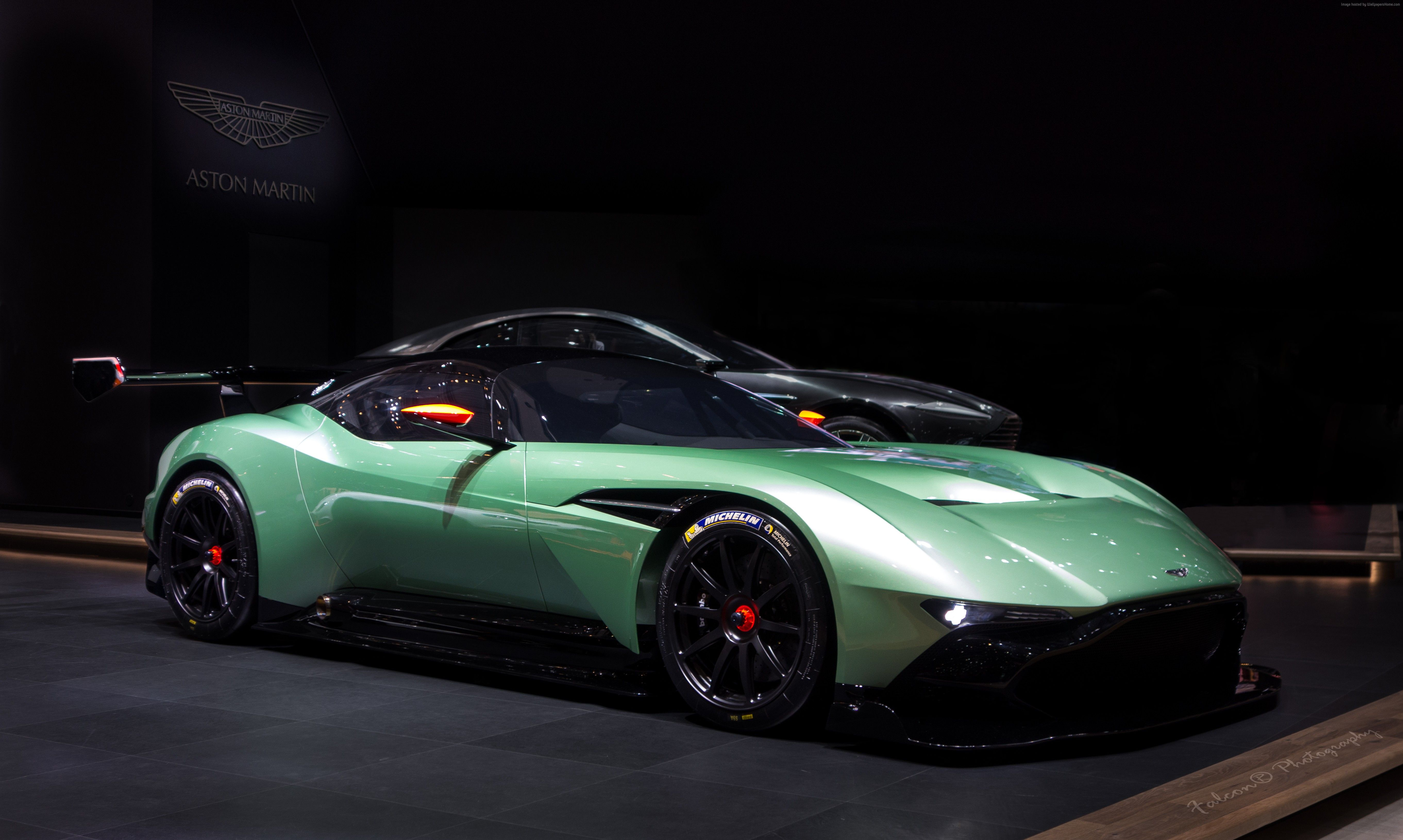 Wallpapers Aston Martin Vulcan, coupe, track only, green., Cars