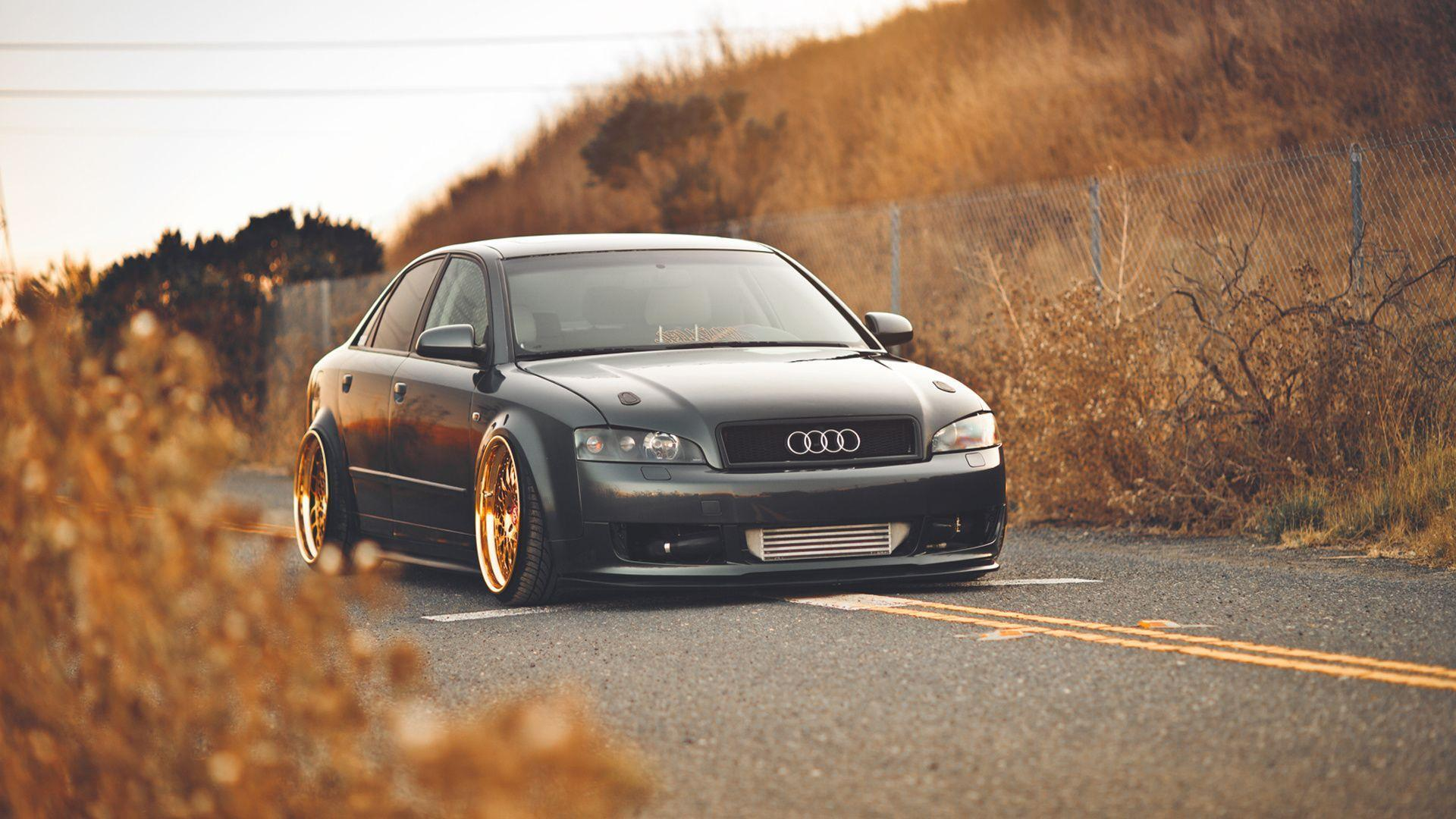 Download Wallpapers 1920x1080 Audi, A4, Audi, Autumn, Gold Full HD