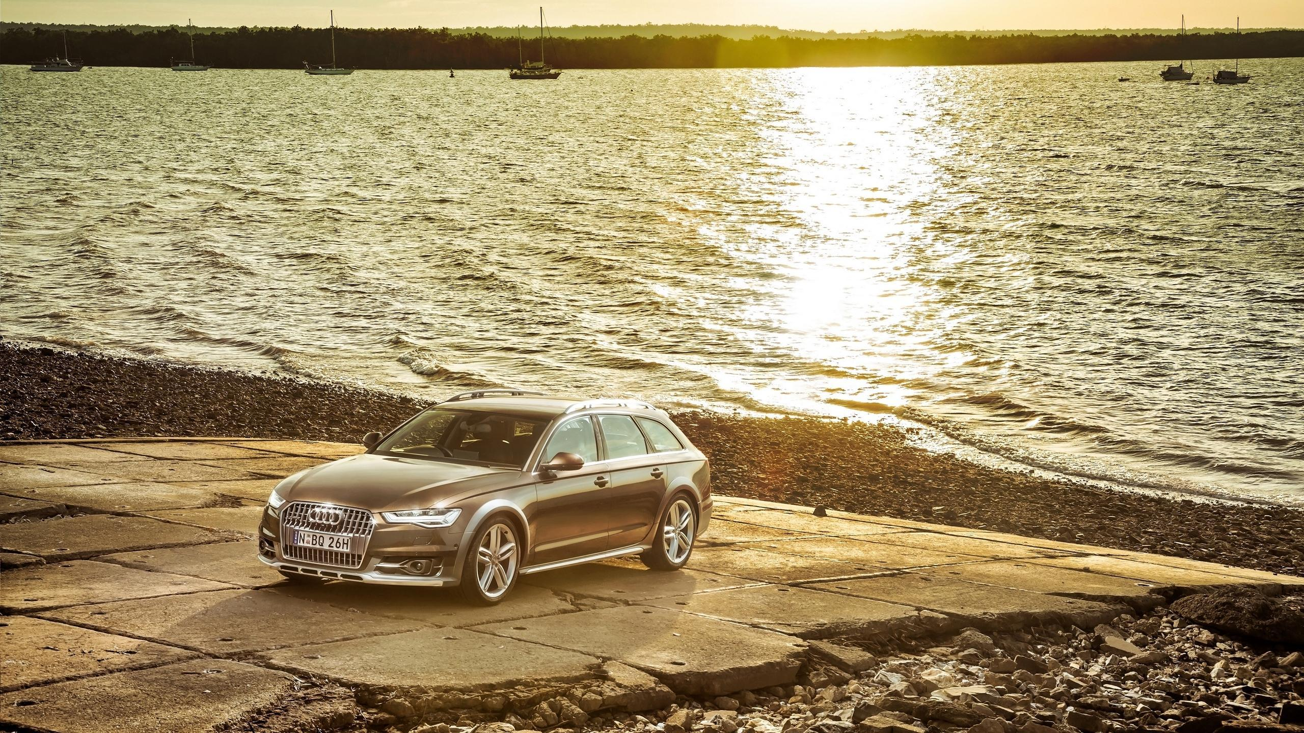 Download wallpapers 2560x1440 audi, a6, allroad, side view widescreen
