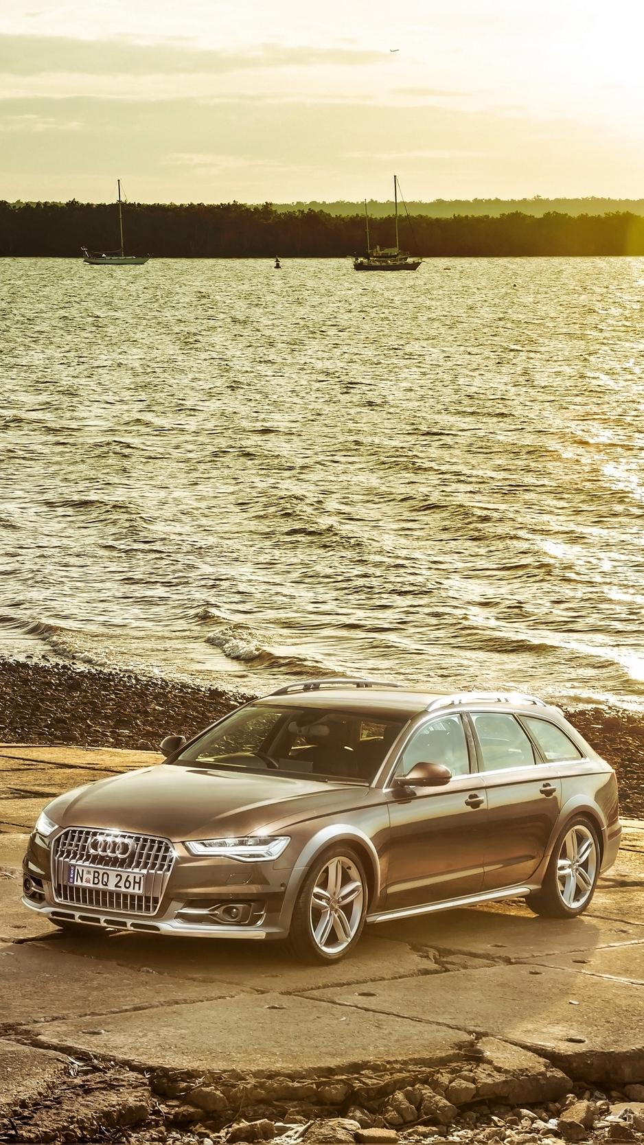 Download wallpapers 938x1668 audi, a6, allroad, side view iphone 8/7