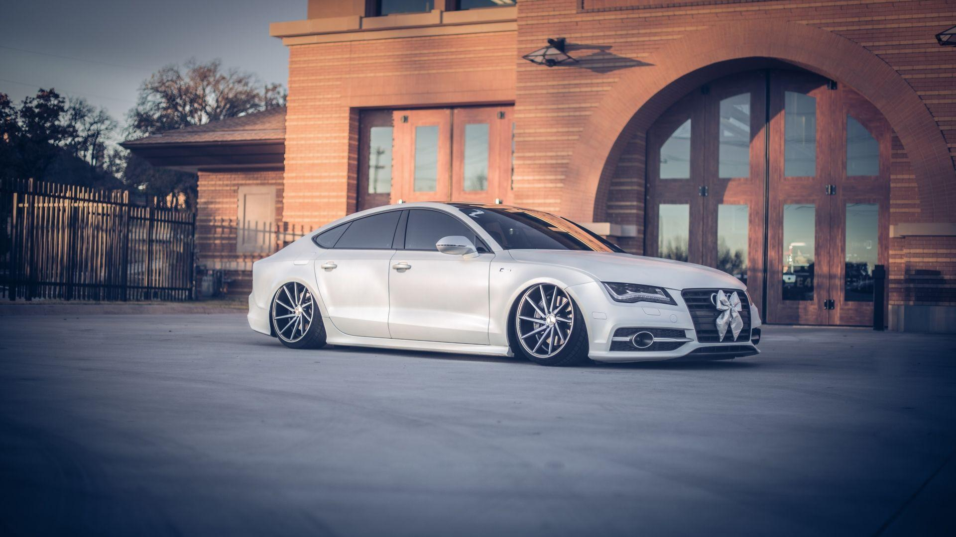Download Wallpapers 1920x1080 Audi, A7, Vossen, Tuning, Wheels Full