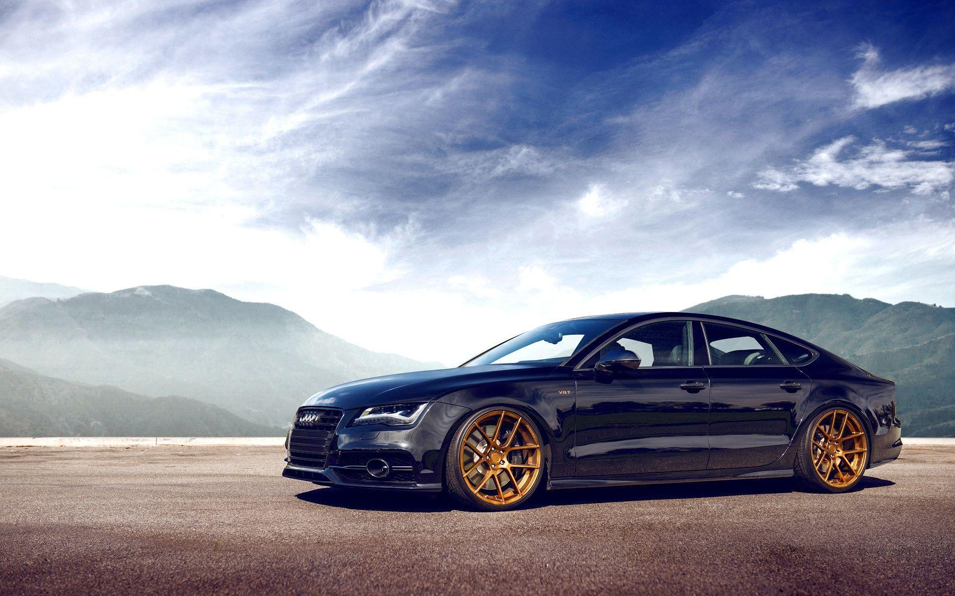 Audi A7 Front Black HD Wallpapers