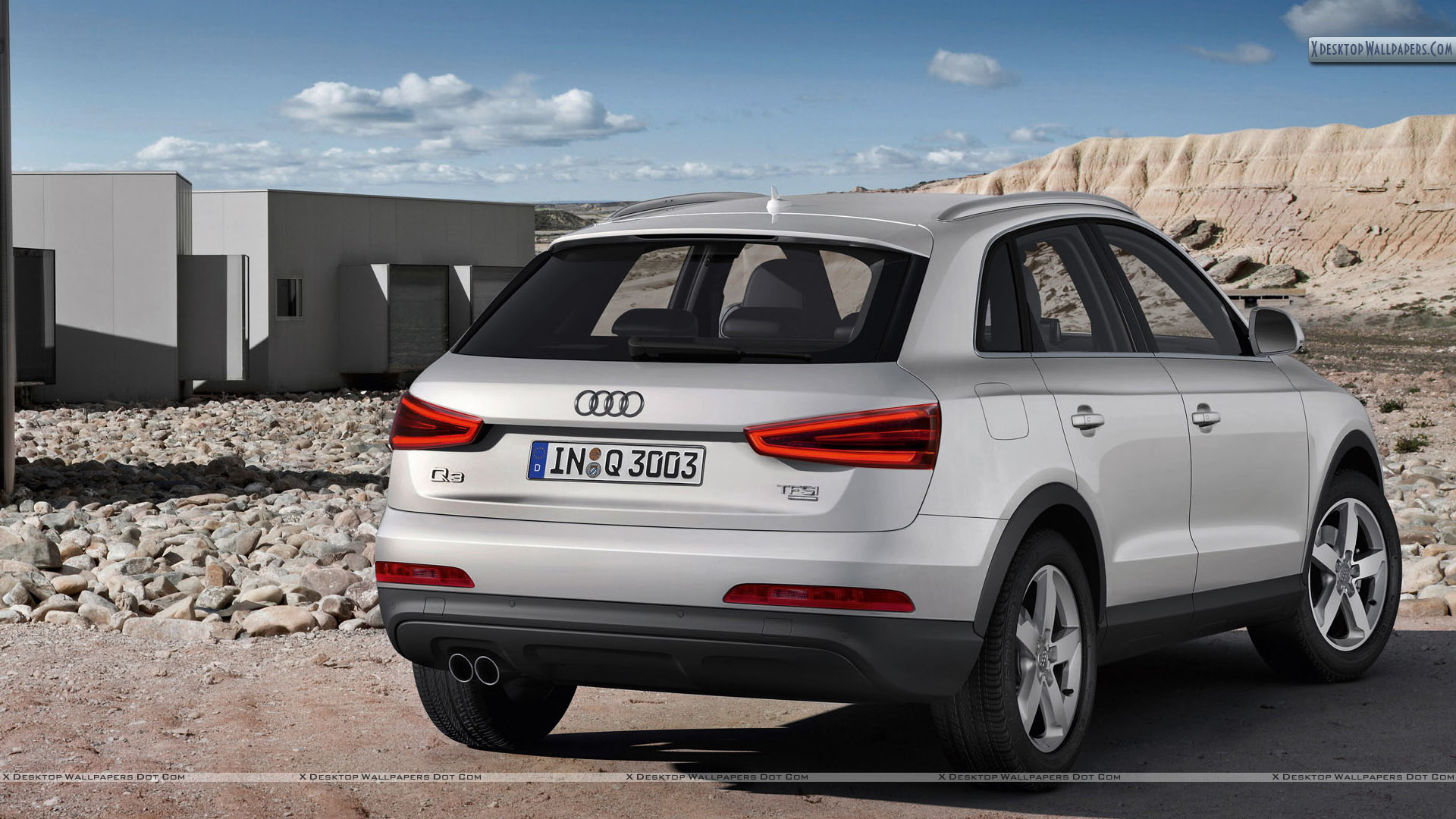 Audi Q3 White Color Back Picture Wallpapers