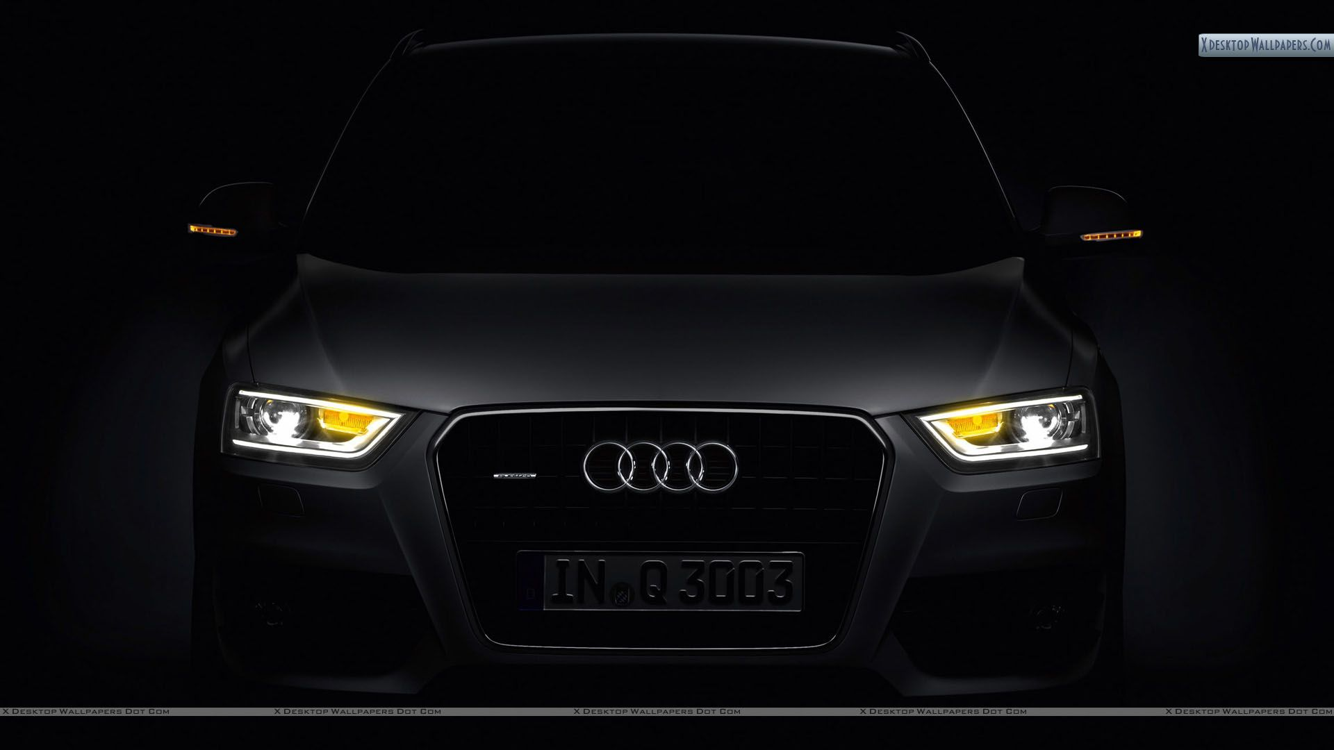 Audi Q3 Front Picture in Dark Wallpapers