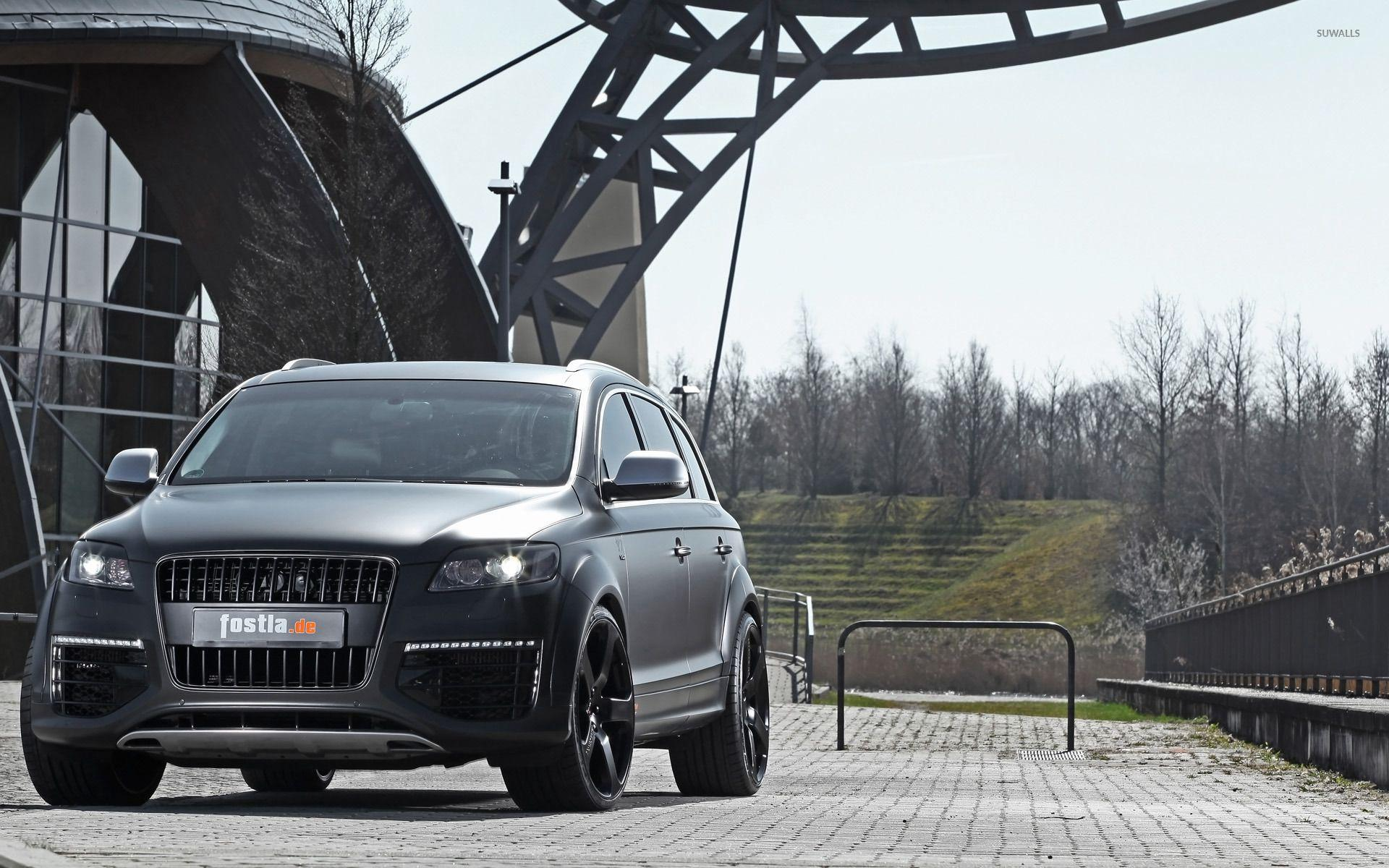 2012 Silver Fostla Audi Q7 front view wallpapers