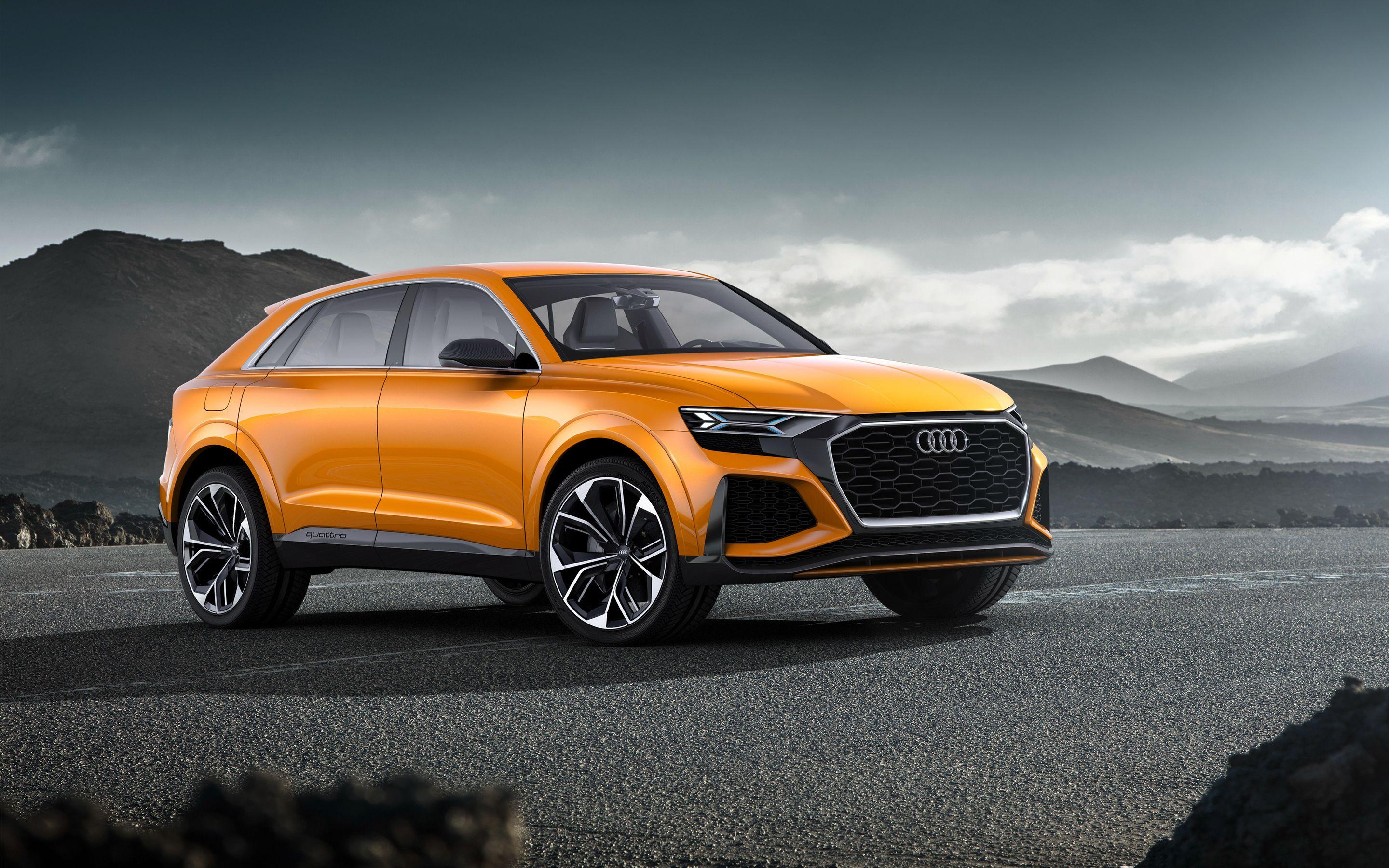2018 Audi Q8 Sport Concept 4K Wallpapers