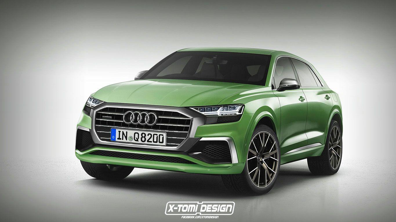 2018 Audi Q8 Rendered as Production Car with Showroom Audi Grille