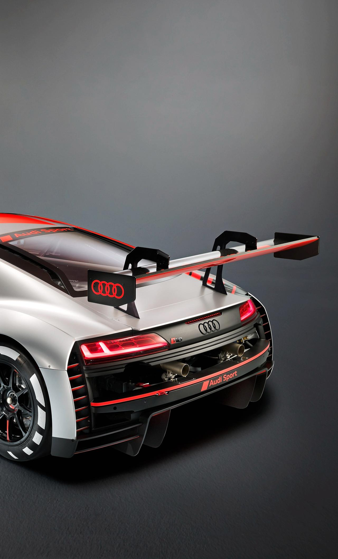 1280x2120 2019 Audi R8 LMS Rear View iPhone 6+ HD 4k Wallpapers