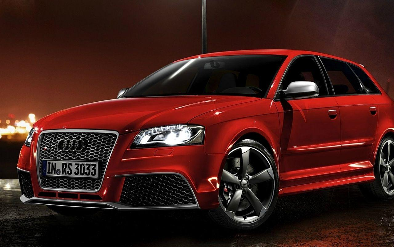 Red Audi RS3 Sportback Night Photo wallpapers