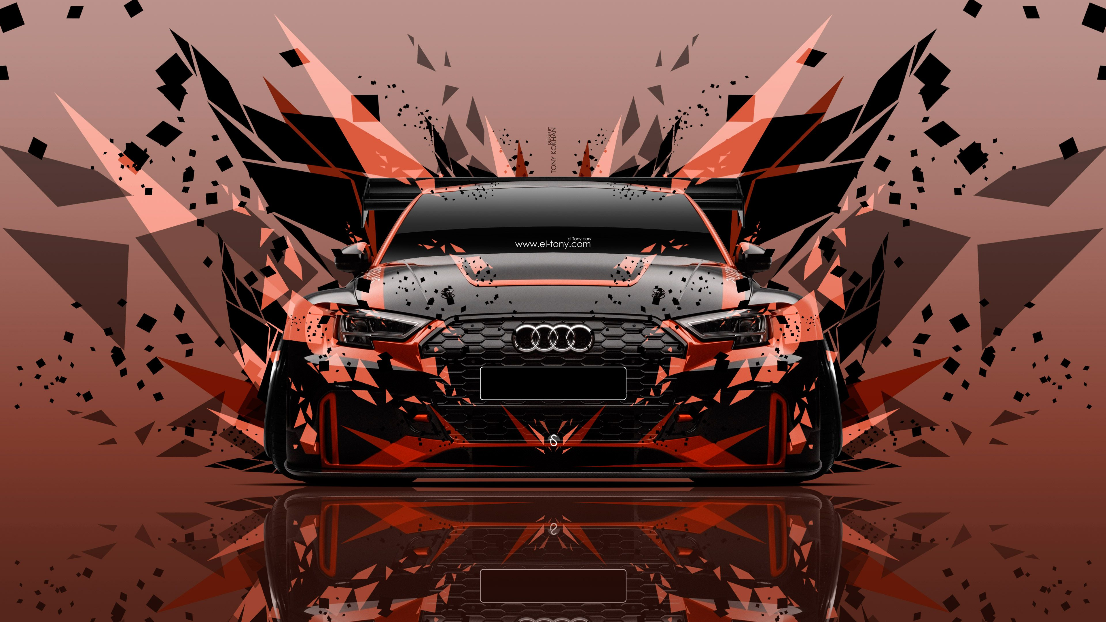 Audi RS3 LMS Sport Tuning Front Super Angle Style Car 2017