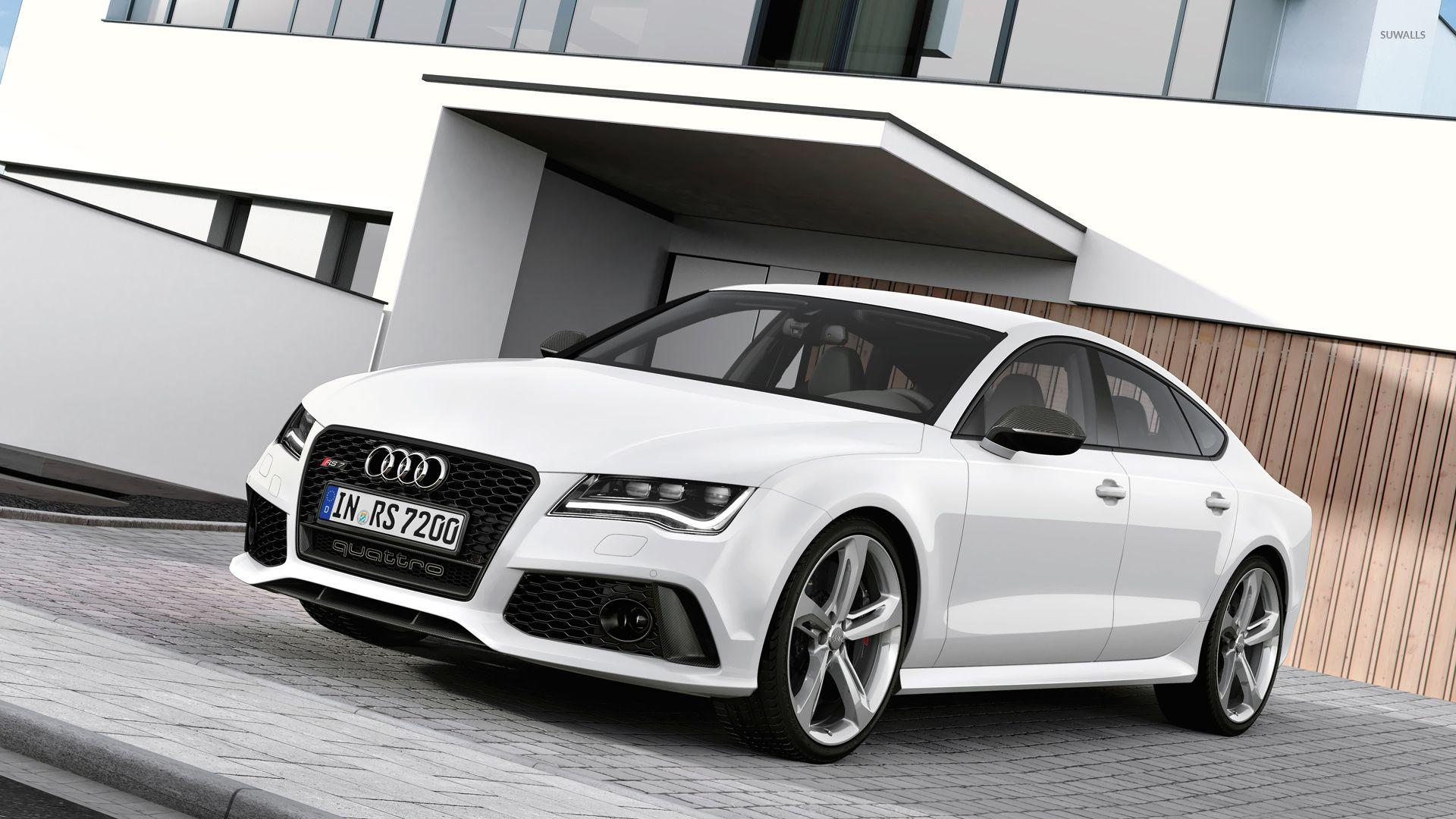 2014 White Audi RS7 Sportback wallpapers